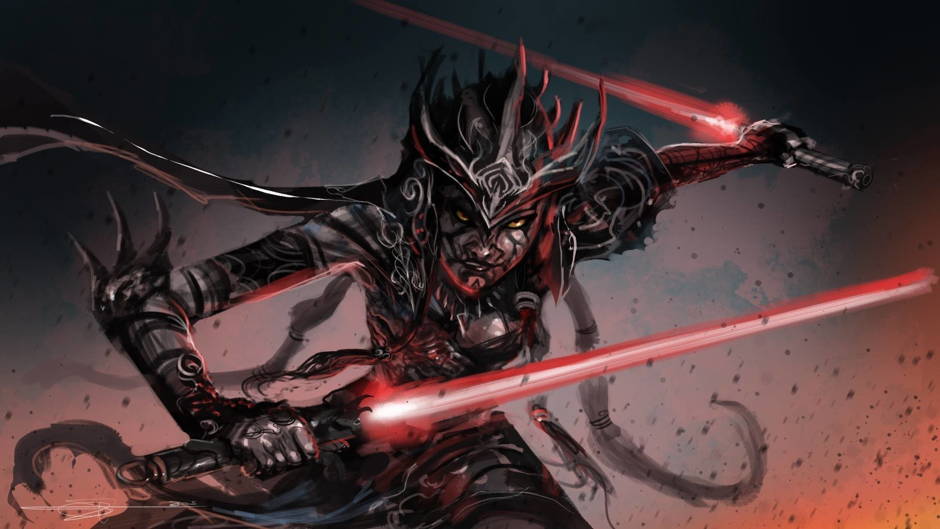 1920x1080 artwork, Fantasy Art, Star Wars, Lightsaber, Sith Wallpapers HD / Desktop  and Mobile Backgrounds