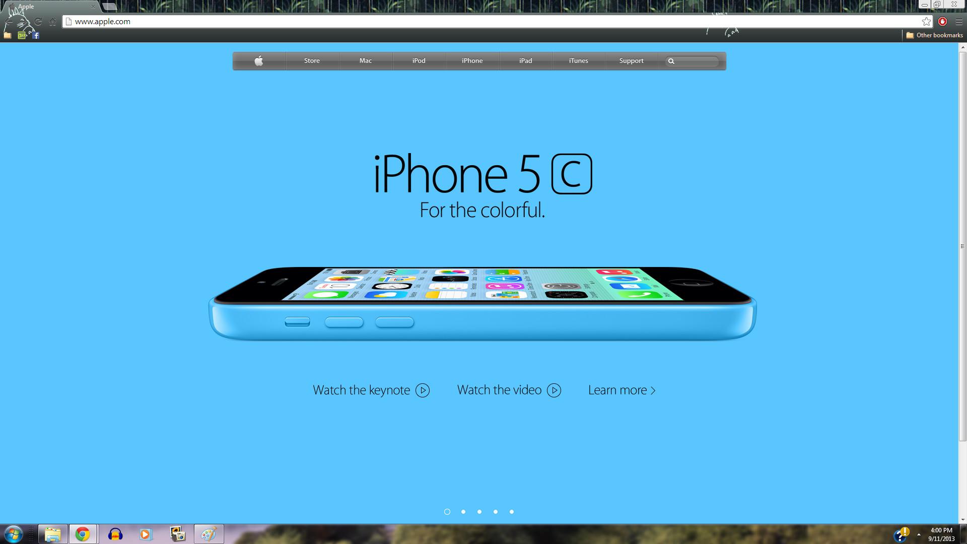 Iphone 5 wallpaper blue apple