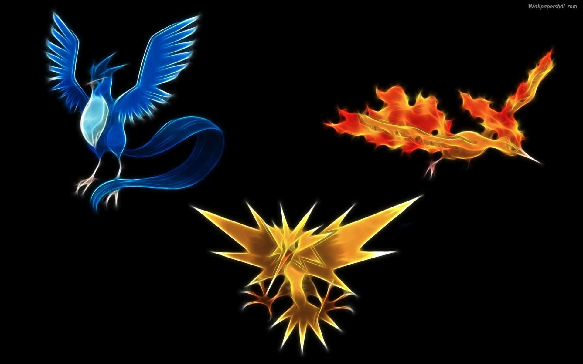 1920x1200 3 legend bird - Pokemon Wallpaper
