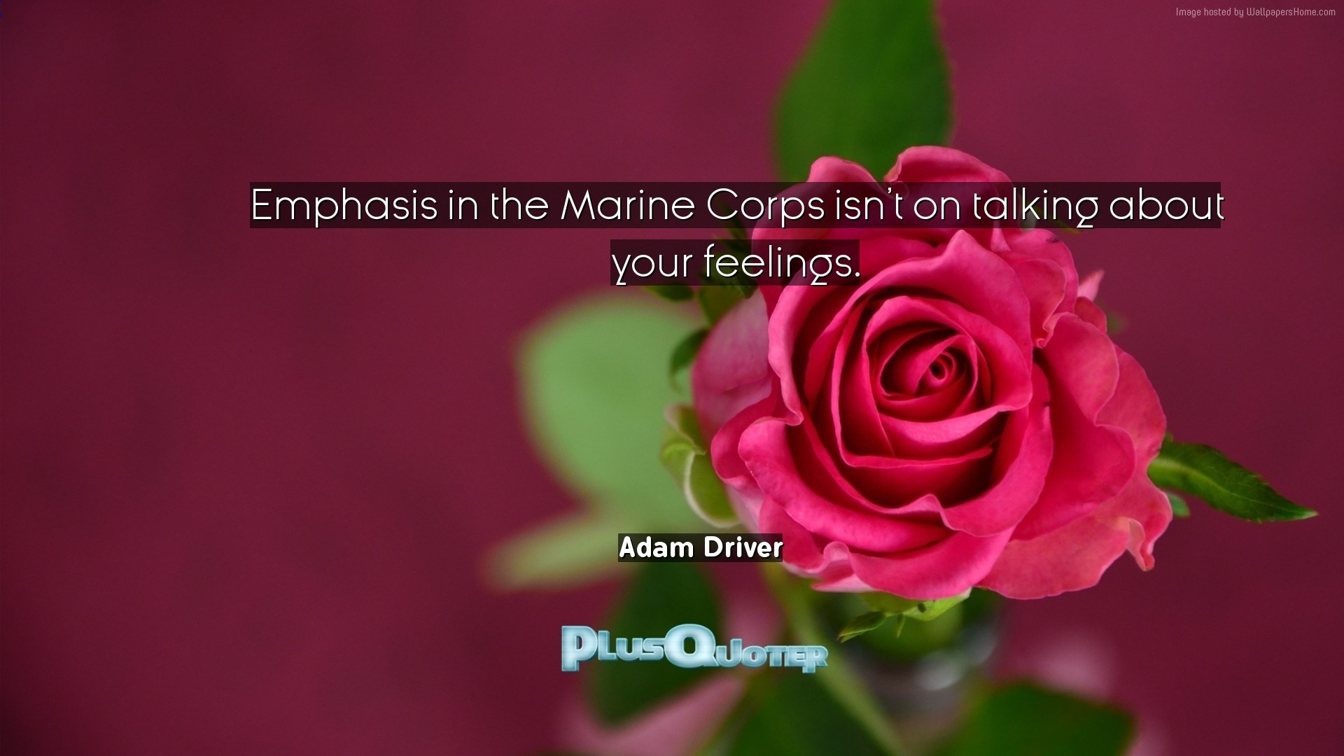 "1920x1080 Download Wallpaper with inspirational Quotes- ""Emphasis in the Marine Corps  isn"