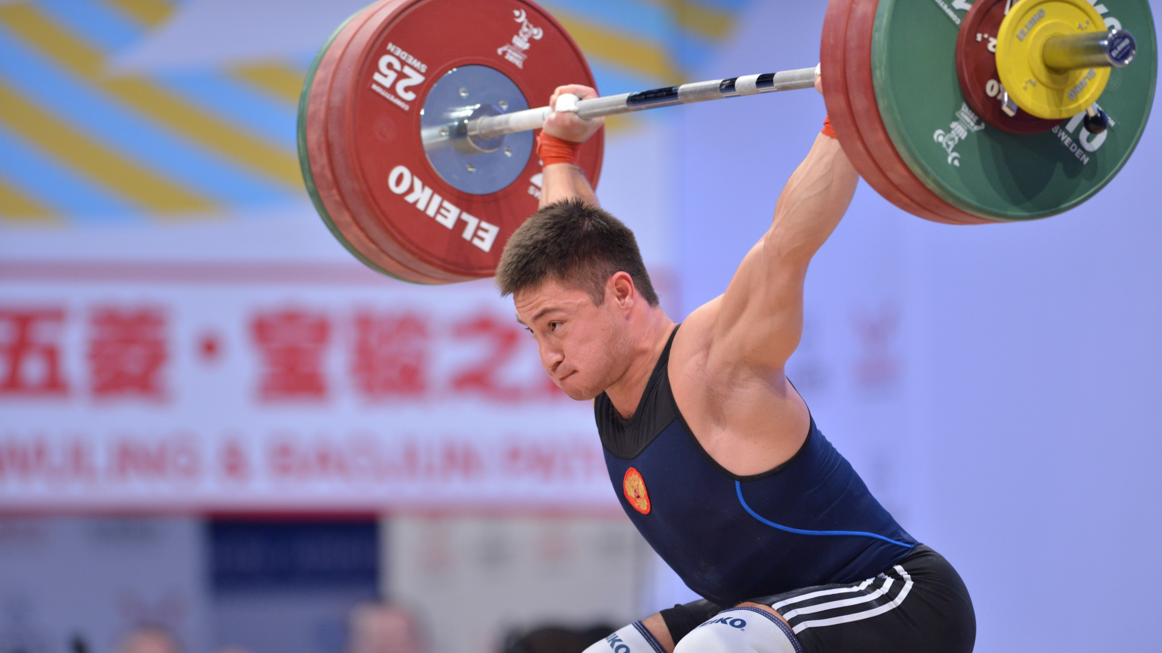 3840x2160  Wallpaper oleg chen, lifter, weightlifting