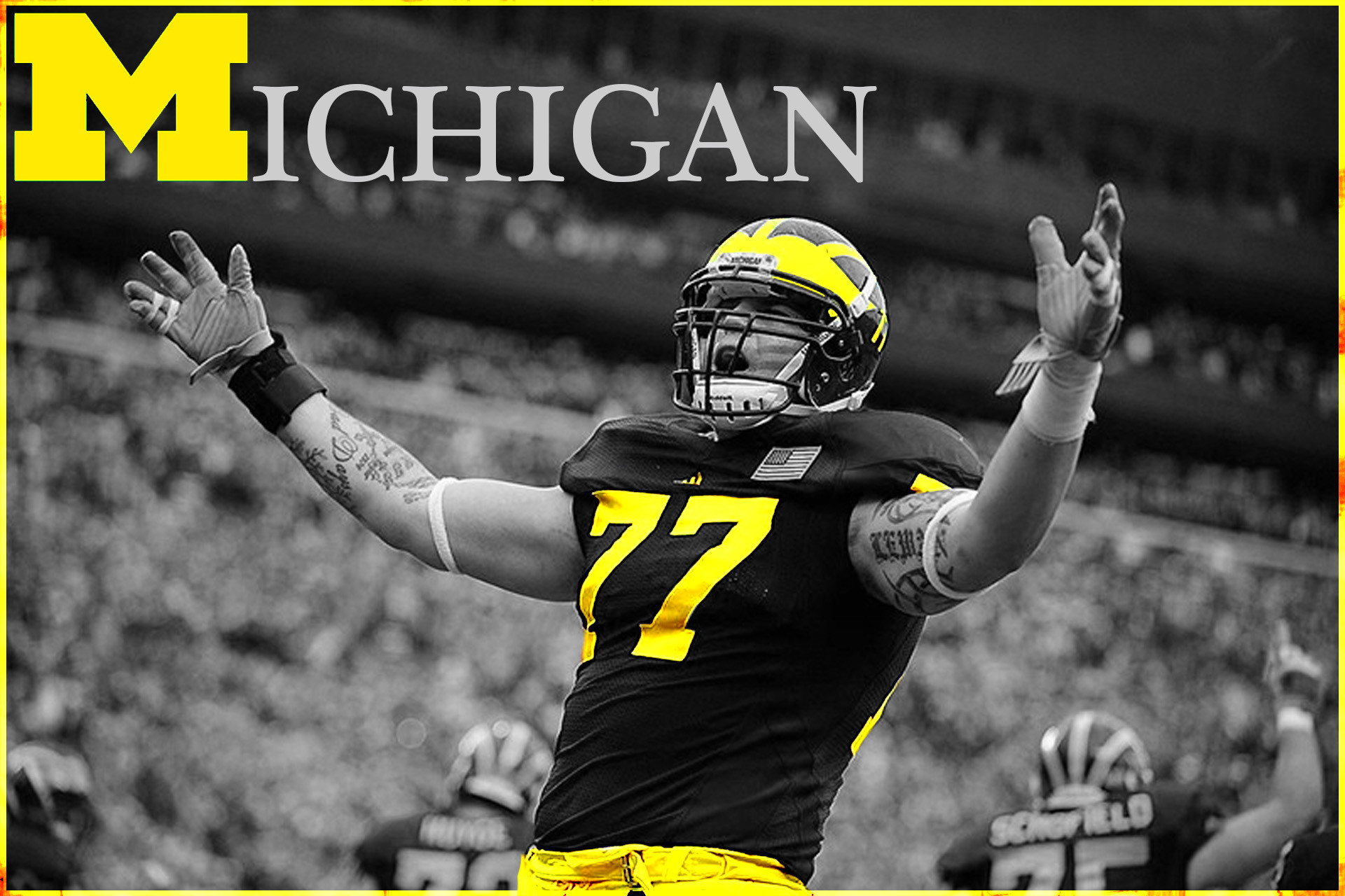1080x1920 MICHIGAN WOLVERINES College Football Wallpaper X