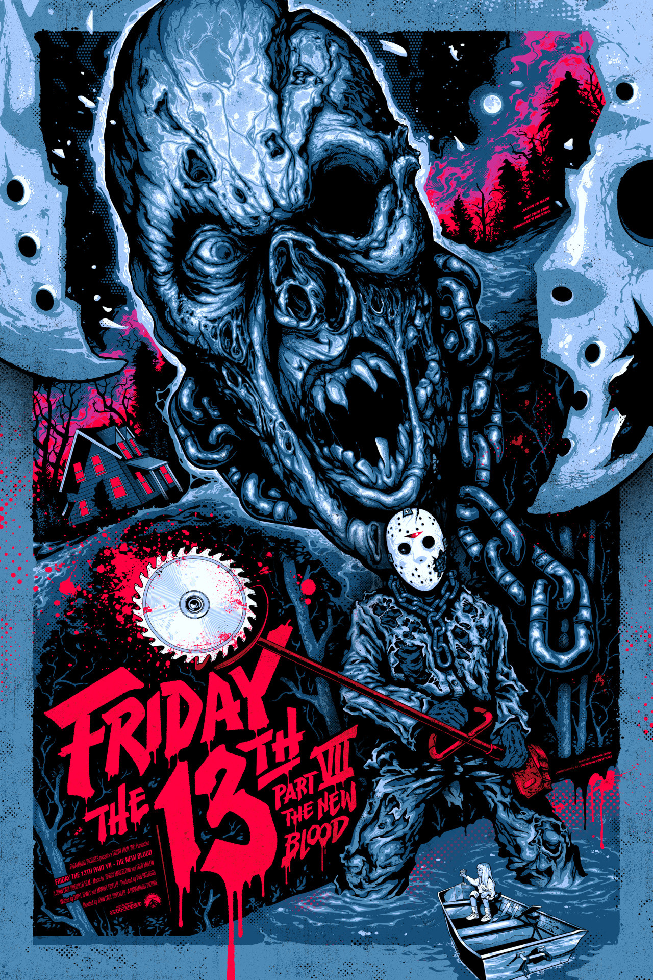 1280x1920 Friday the 13th Part VII: The New Blood (1988) HD Wallpaper From  Gallsource. Horror Movie ...