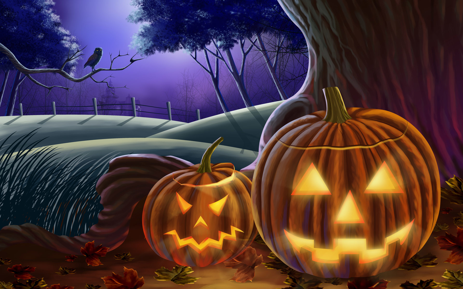 1920x1200 Happy Halloween Live Animated Wallpaper Free Download And
