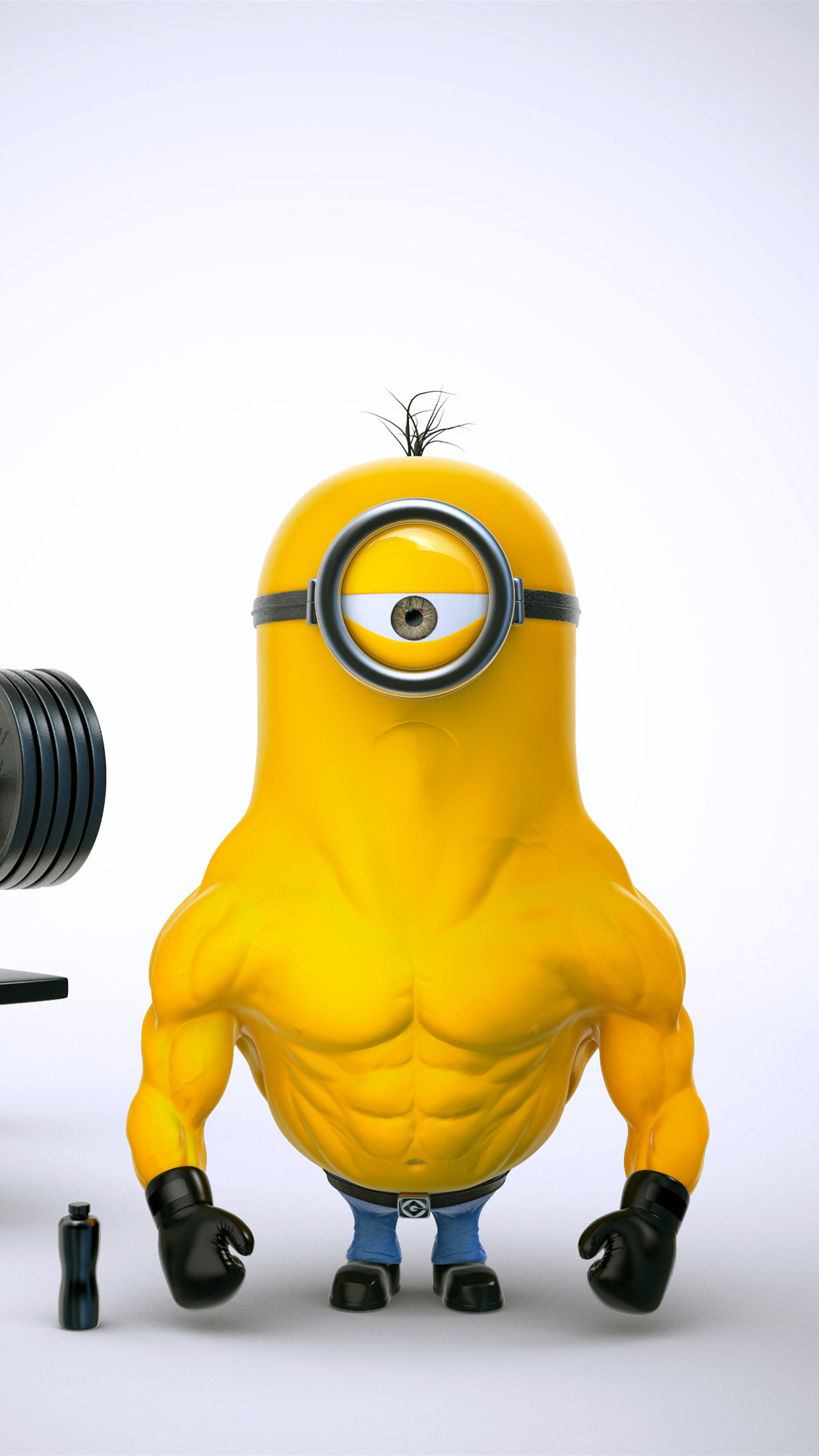 1242x2208 Minion-Muscle-iPhone-3Wallpapers-Parallax