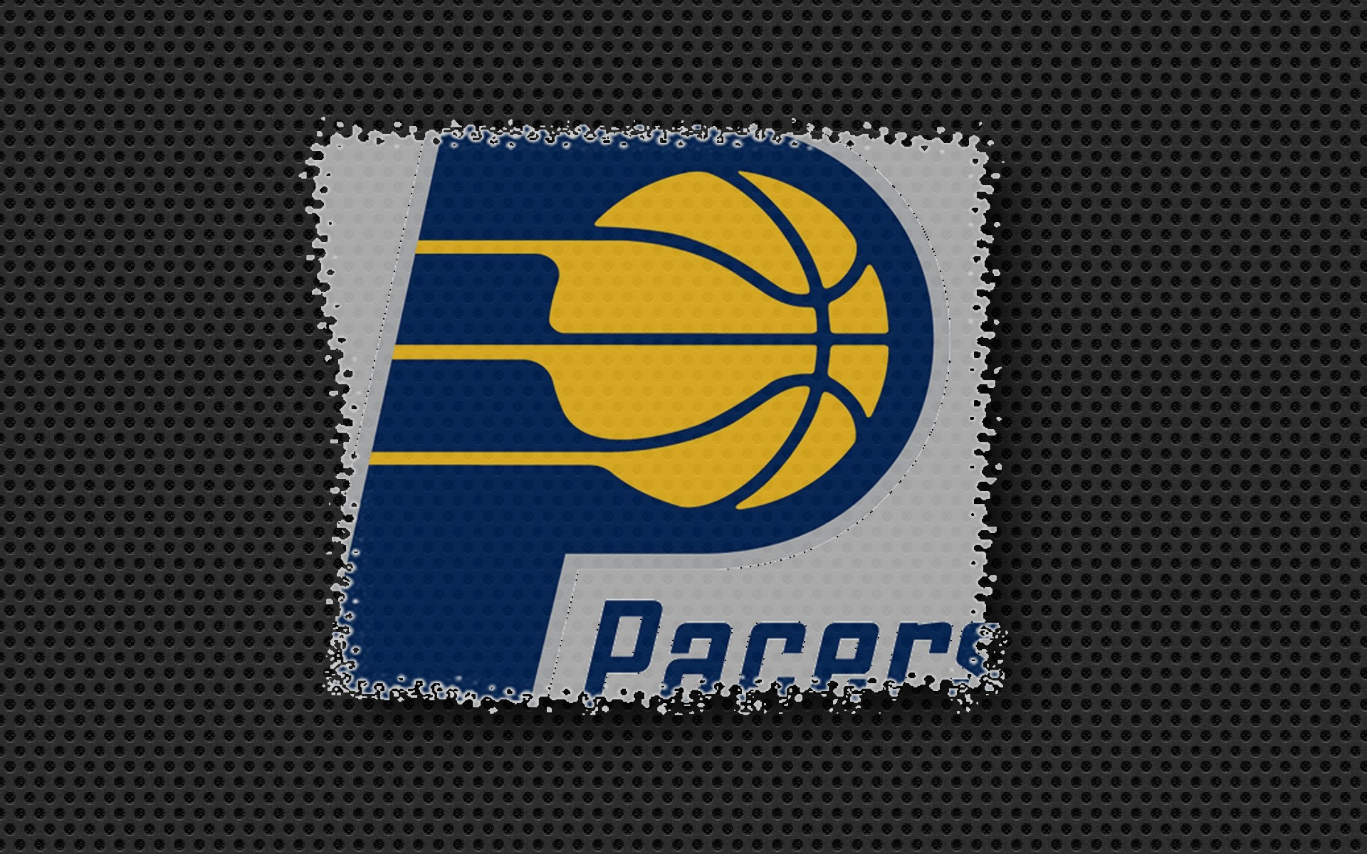1920x1200 indiana pacers logo on carbon black