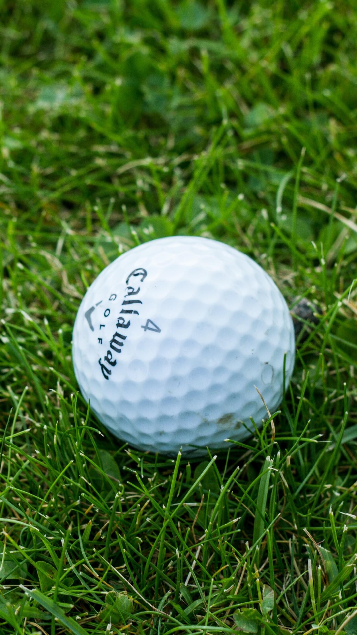 1440x2560 Preview Wallpaper Golf Ball Grass