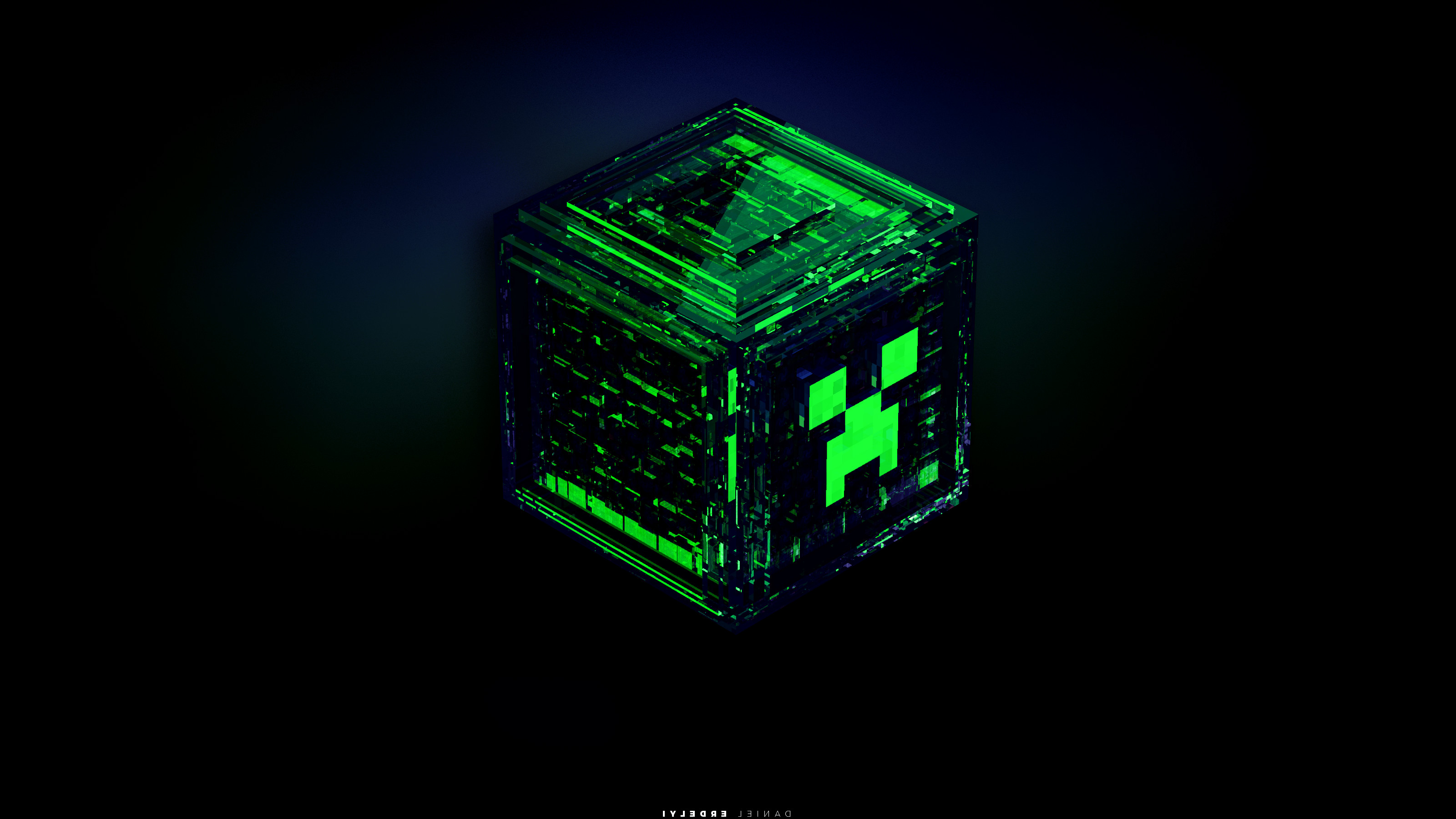 3200x1800 creeper Minecraft Green Wallpapers HD Desktop and