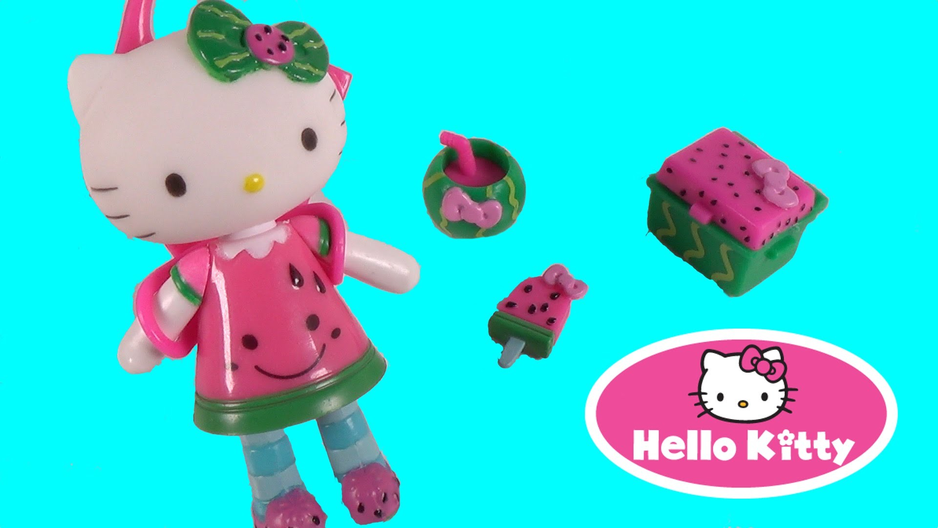 1920x1080 Hello Kitty Watermelon Overload Mini Doll with Surprise Pack - Sanrio Toy  Unboxing