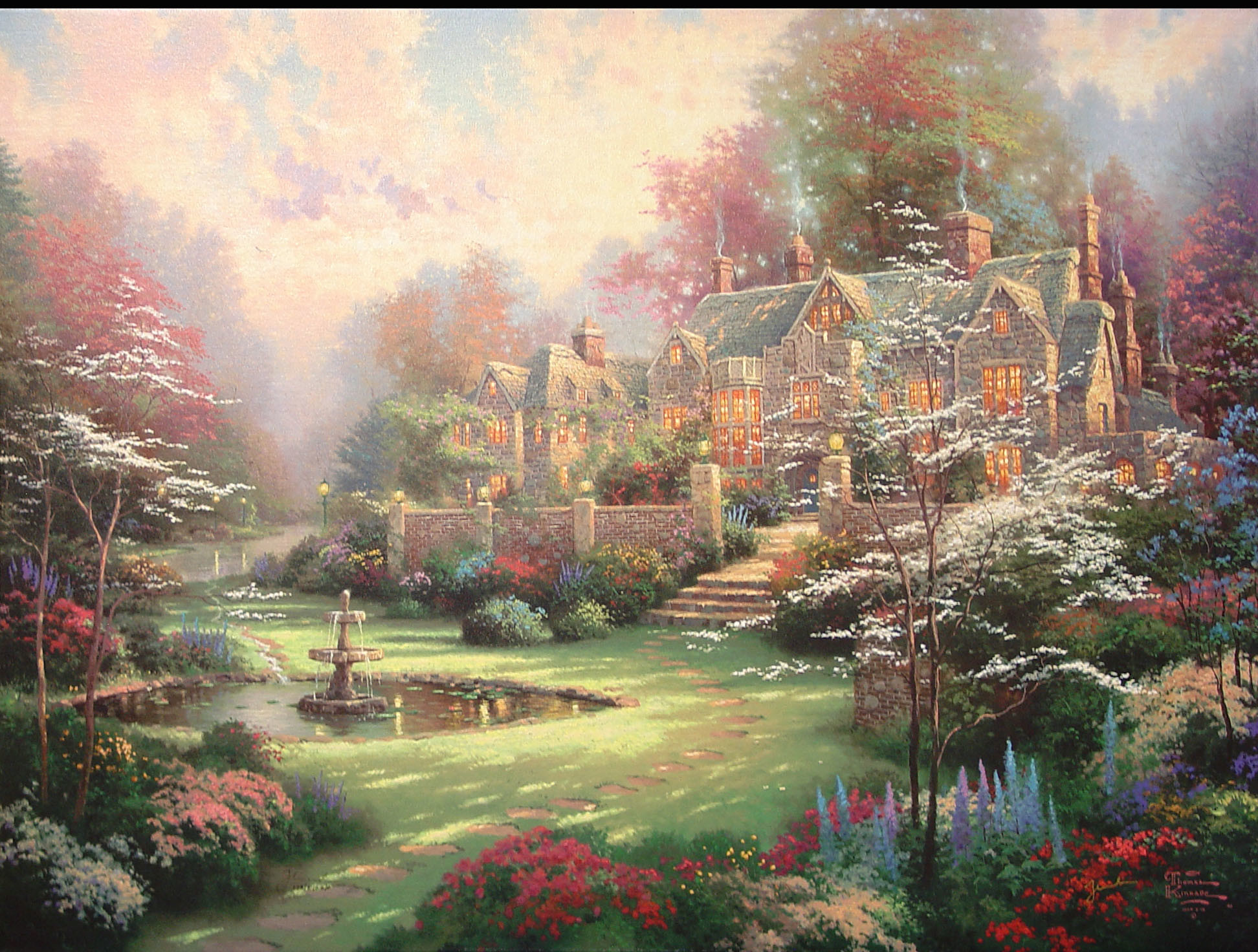 1944x1472 ... images about Thomas Kinkade on Pinterest Gardens The old and Wall  tapestries ...