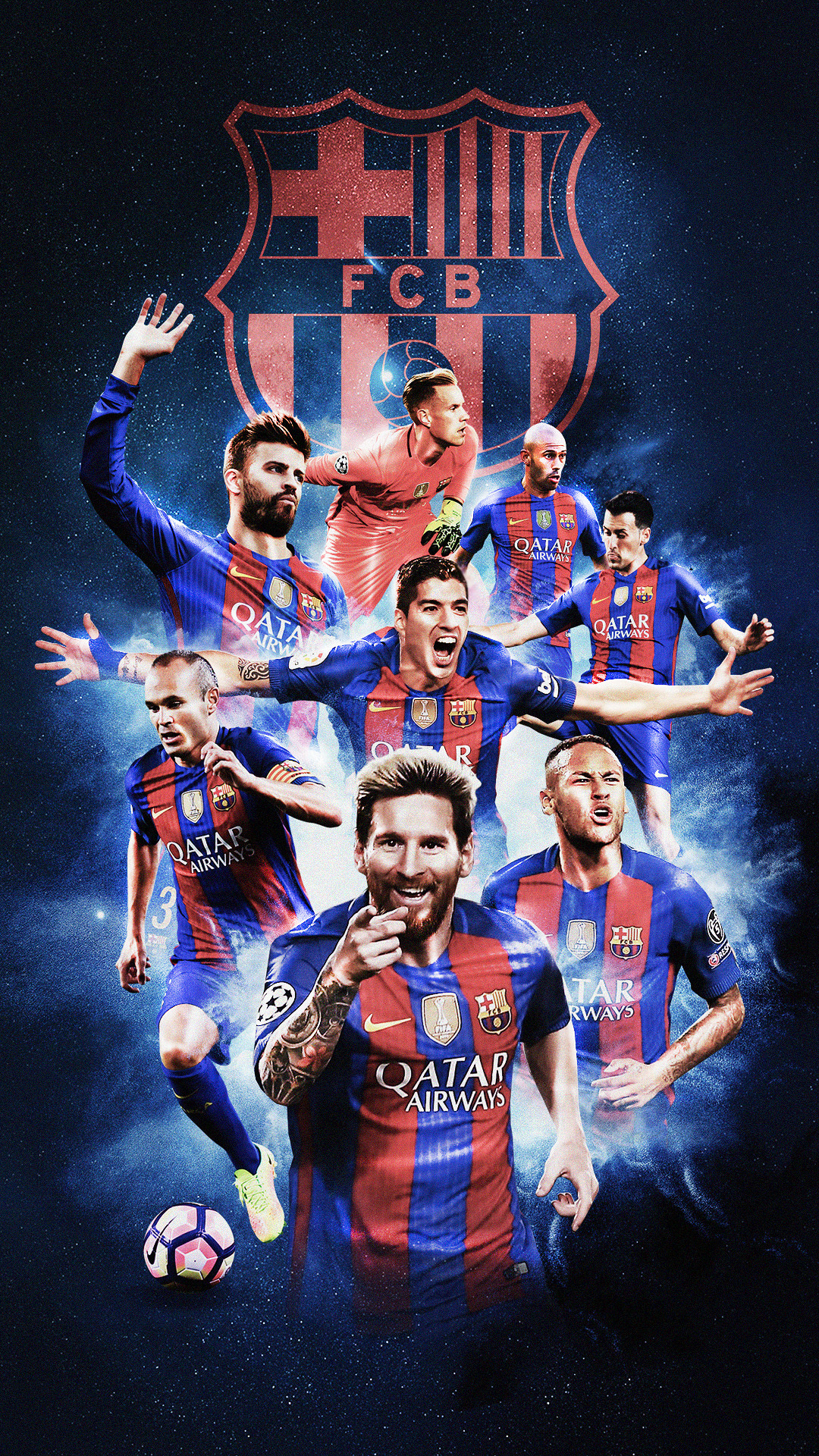 1080x1920 Football Mobile Wallpapers on Behance Barcelona Soccer, Fcb Barcelona,  Barcelona Players, Fifa,