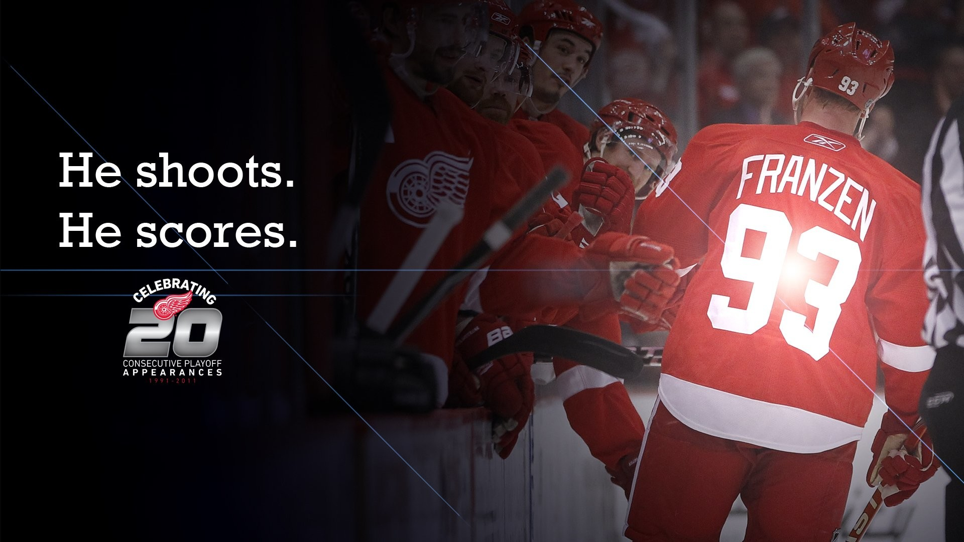 1920x1080 Detroit Red Wings Background