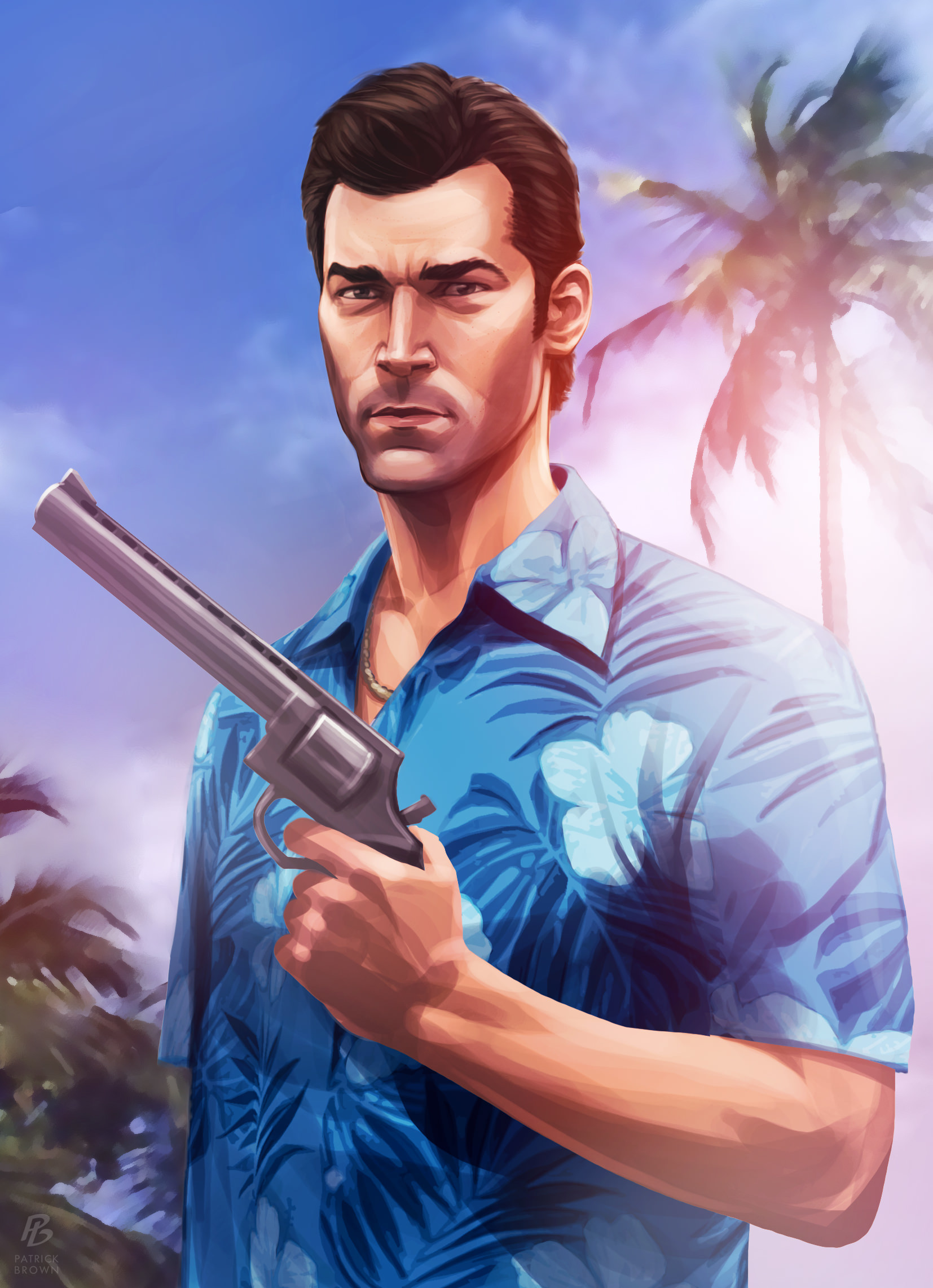 1654x2283 Grand Theft Vice City Video Game Background For Free