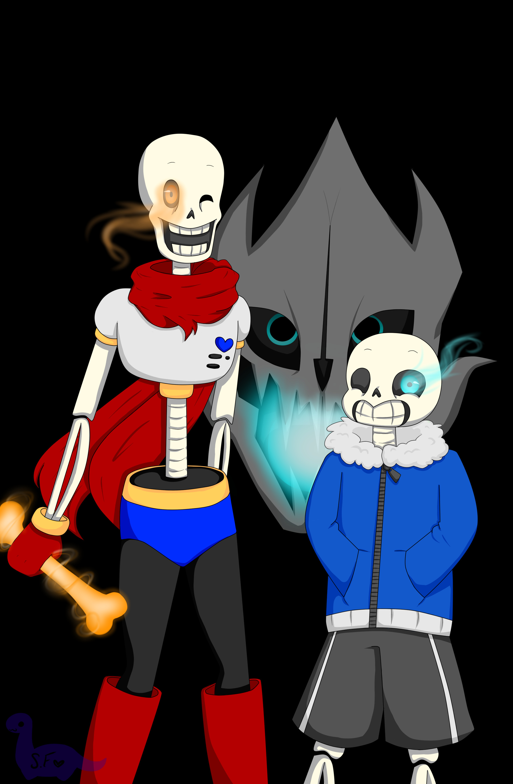 2160x3300 ...  Sans And Papyrus Wallpaper by Sarah forstie on DeviantA