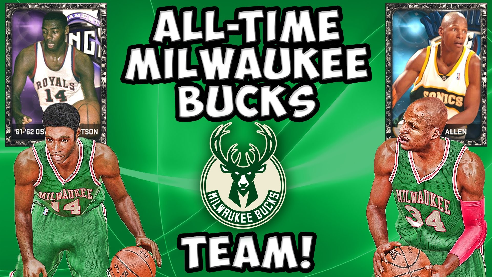 1920x1080 All-Time Milwaukee Bucks Team! NBA 2K15 MyTeam - Onyx Oscar Robertson & Ray  Allen - YouTube
