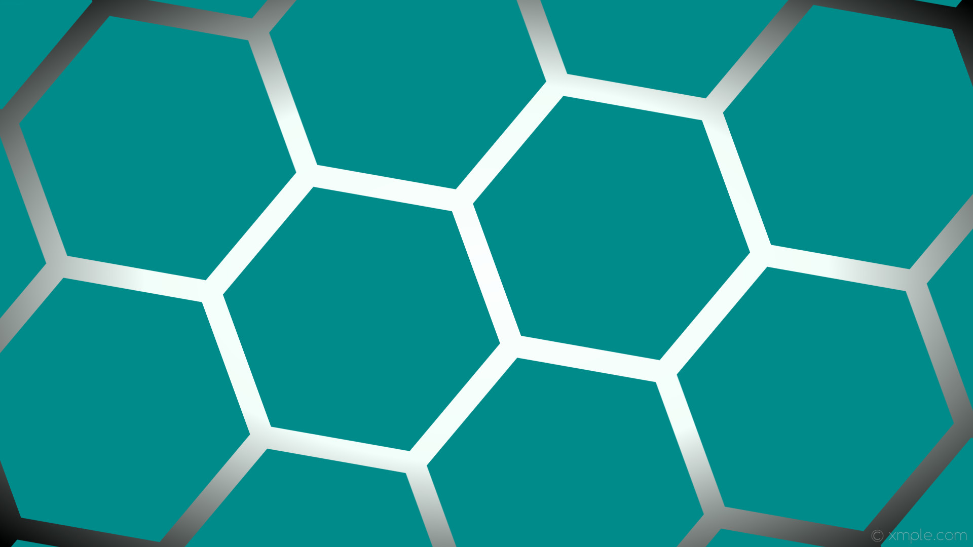 1920x1080 wallpaper glow hexagon white green gradient black dark cyan mint cream  #008b8b #ffffff #