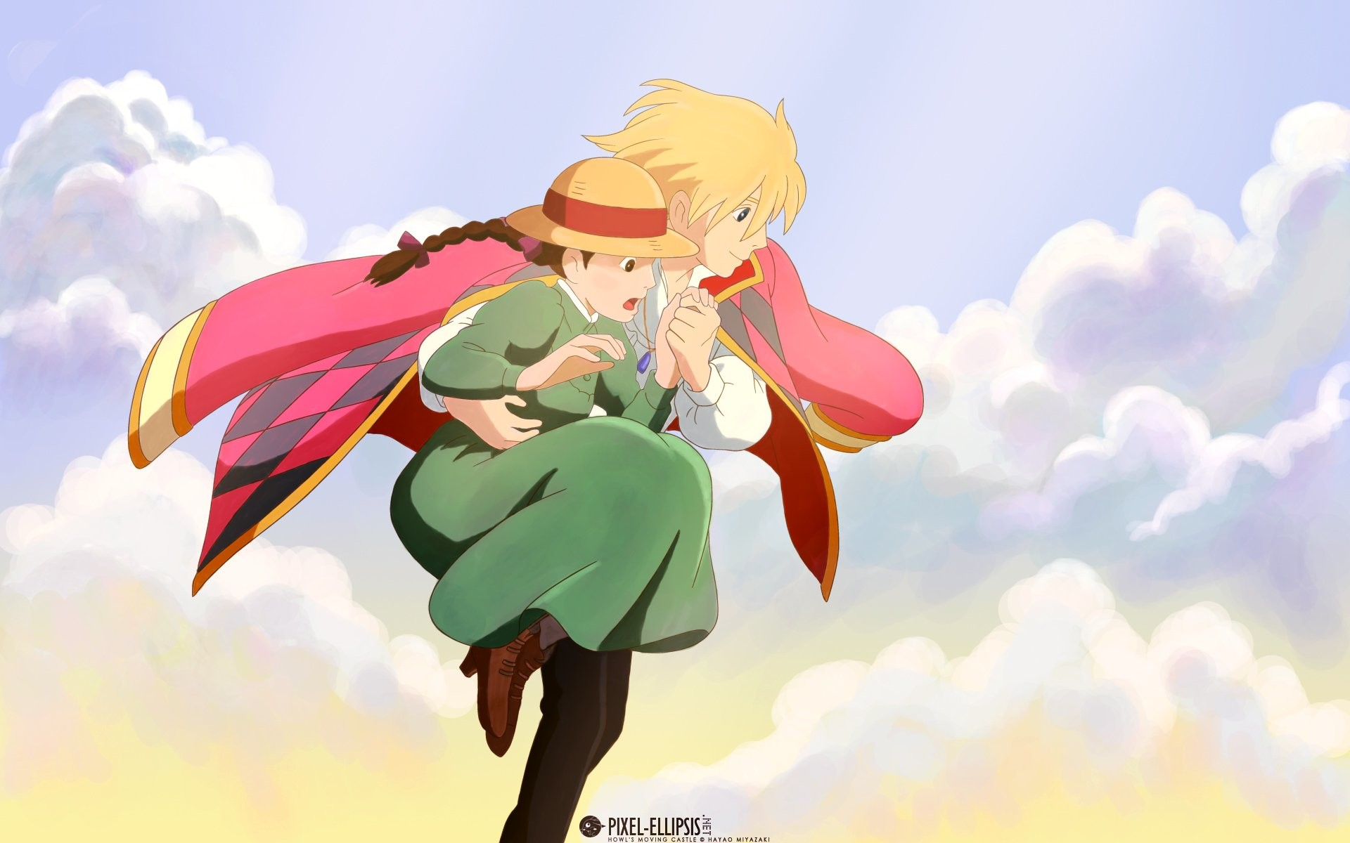1920x1200 Howl's Moving Castle Howl And Sophie ...