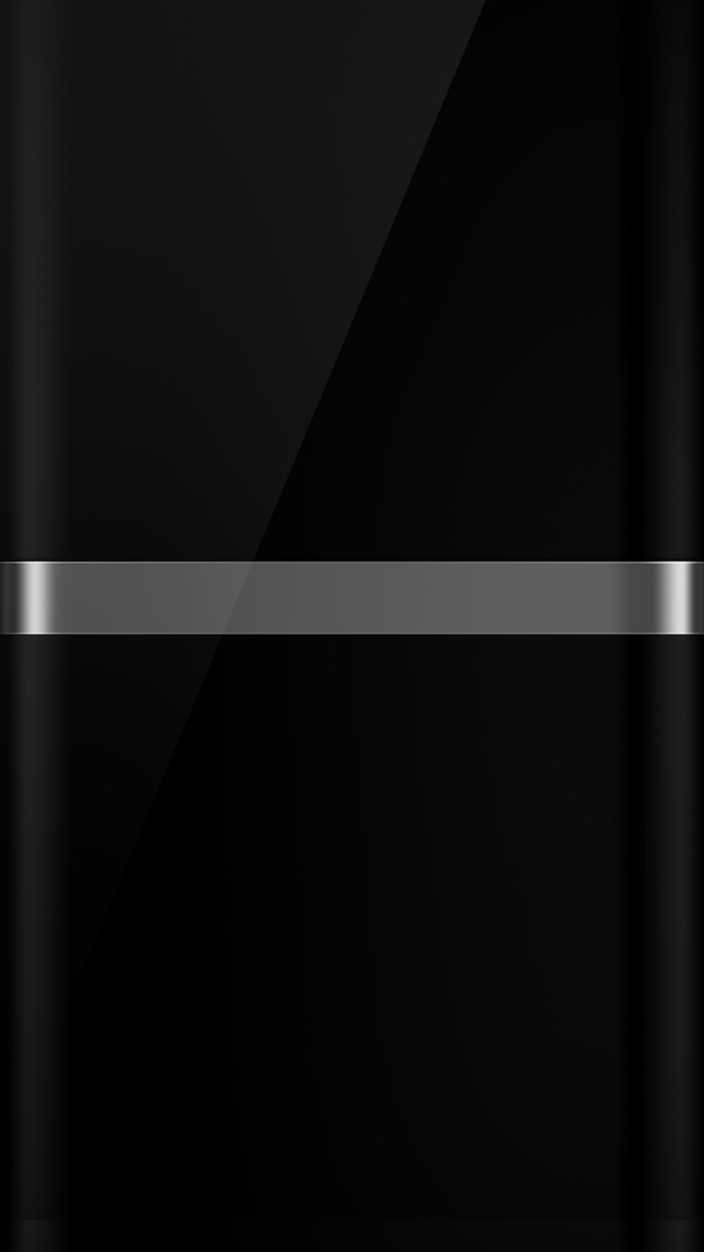 1440x2560 The Dark S7 Edge Wallpaper 08 with Black Background and Silver Line