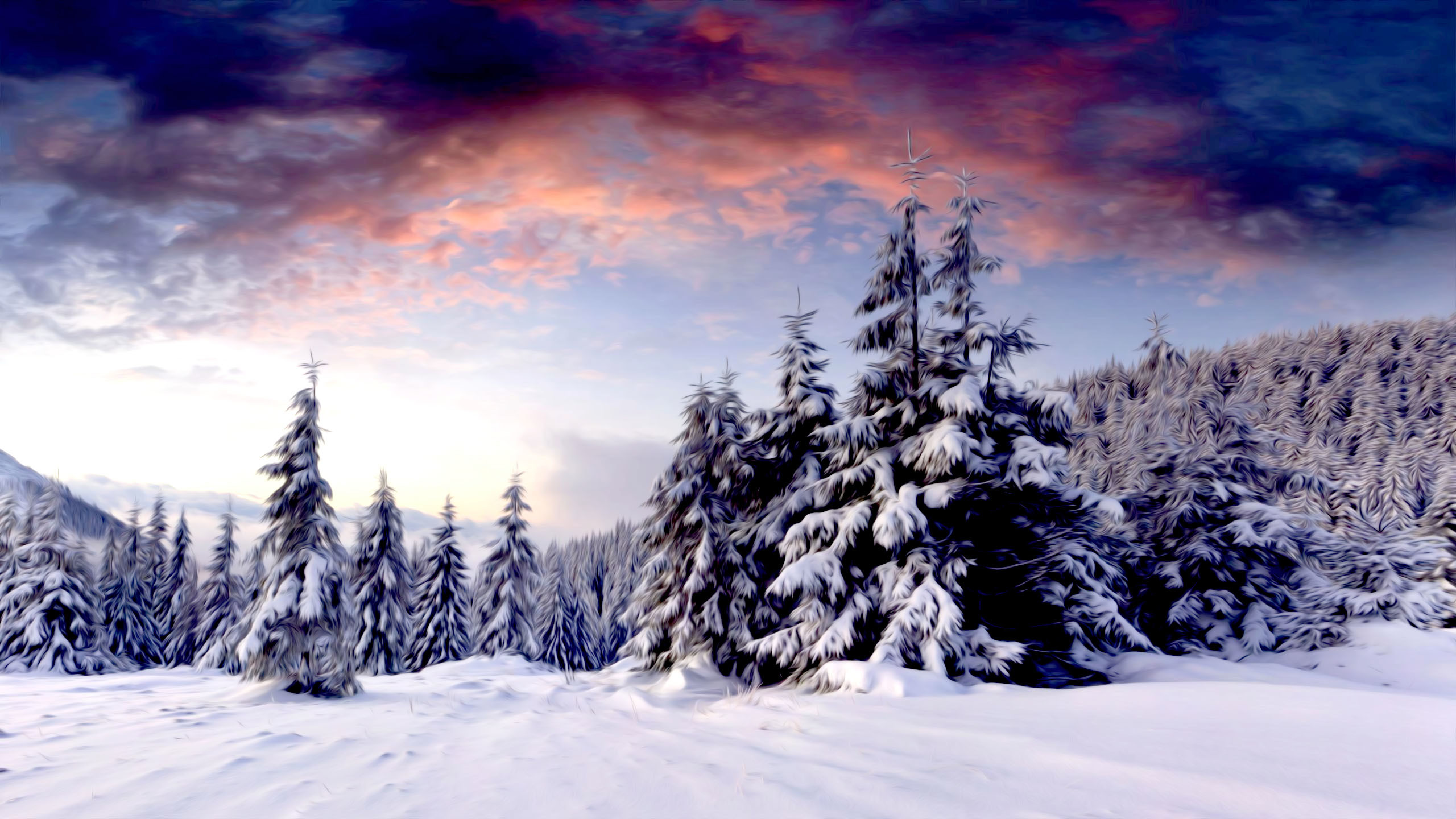 Wallpaper Desktop Winter Scenes (53+ Images