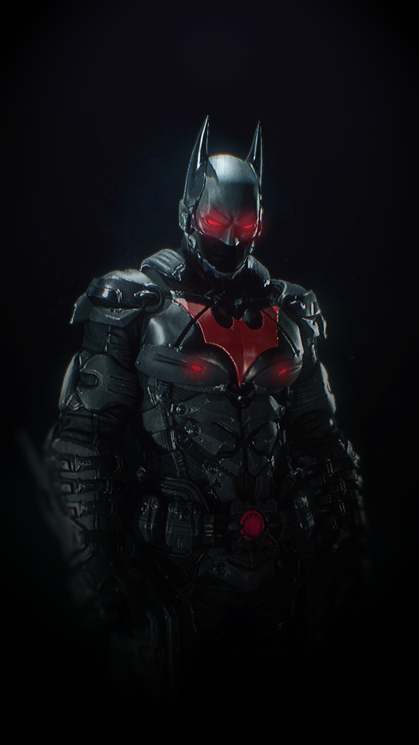 1438x2556 Batman Arkham Knight Suit : Batman Beyond Skin. A wallpaper made by me for  smartphones in highest quality as possible i could make.