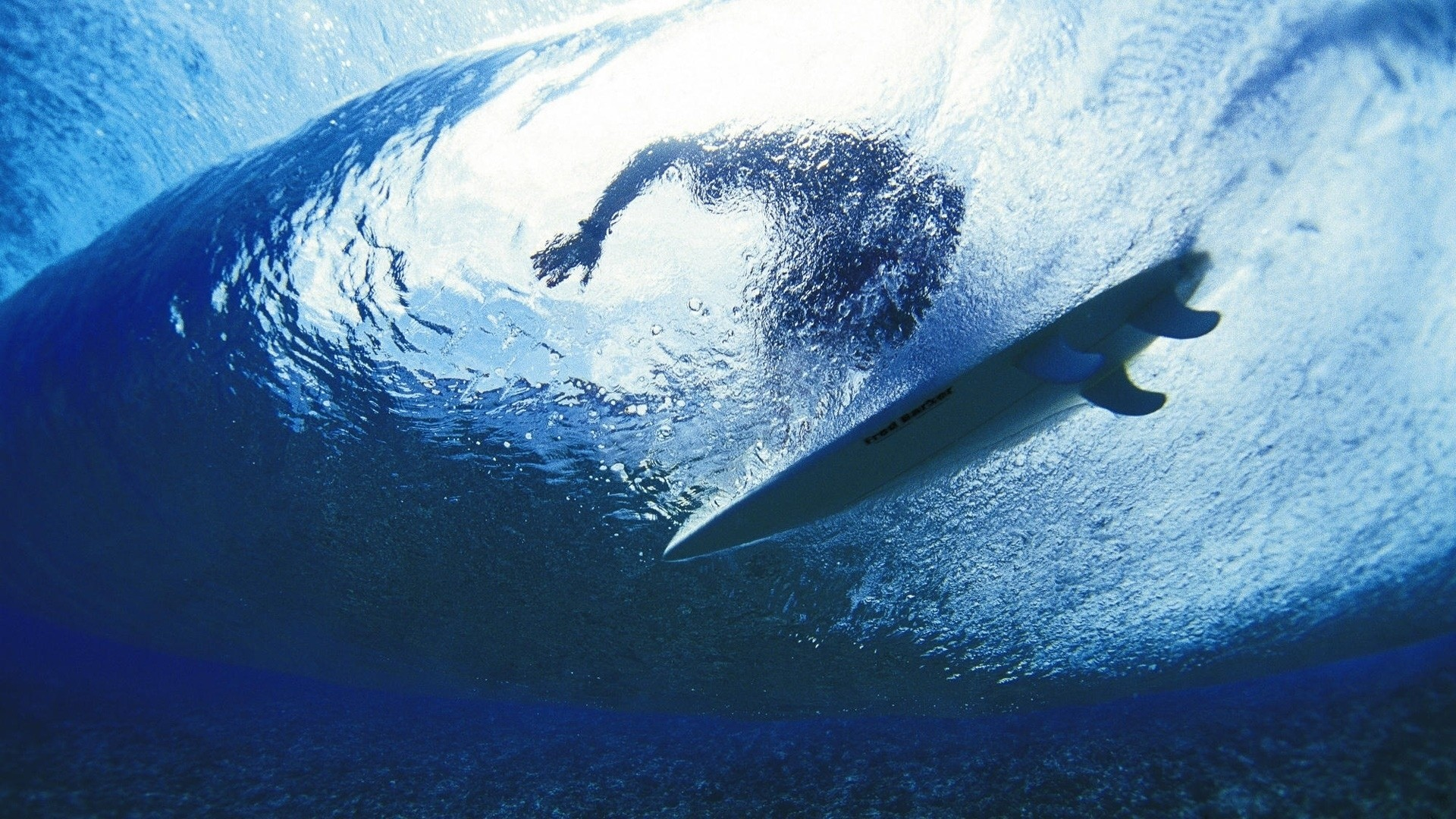 1920x1080 Preview wallpaper surfing, surfer, water, depth