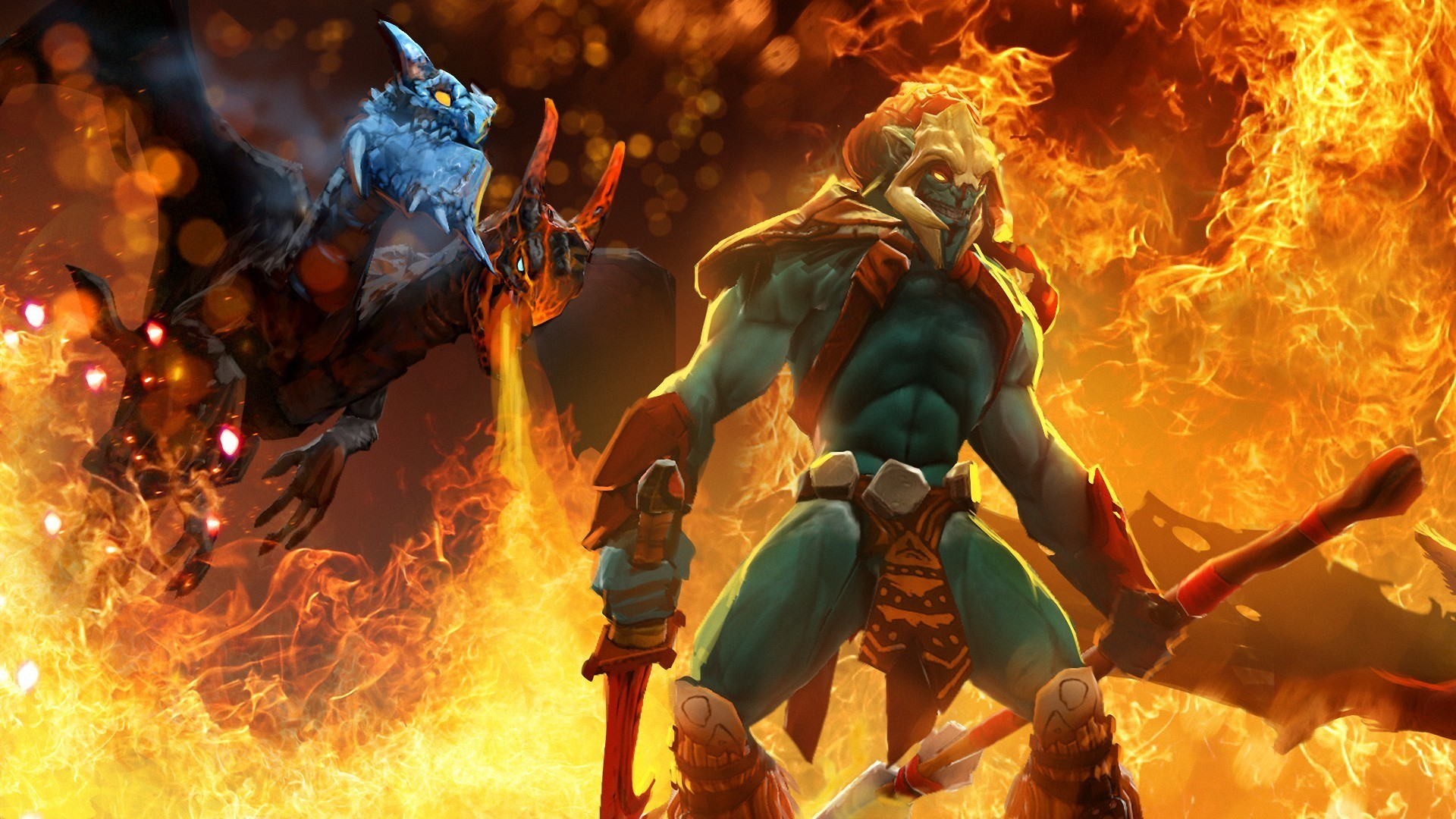 1920x1080 Wallpaper Dota 2 Middle Battle Map Heroes