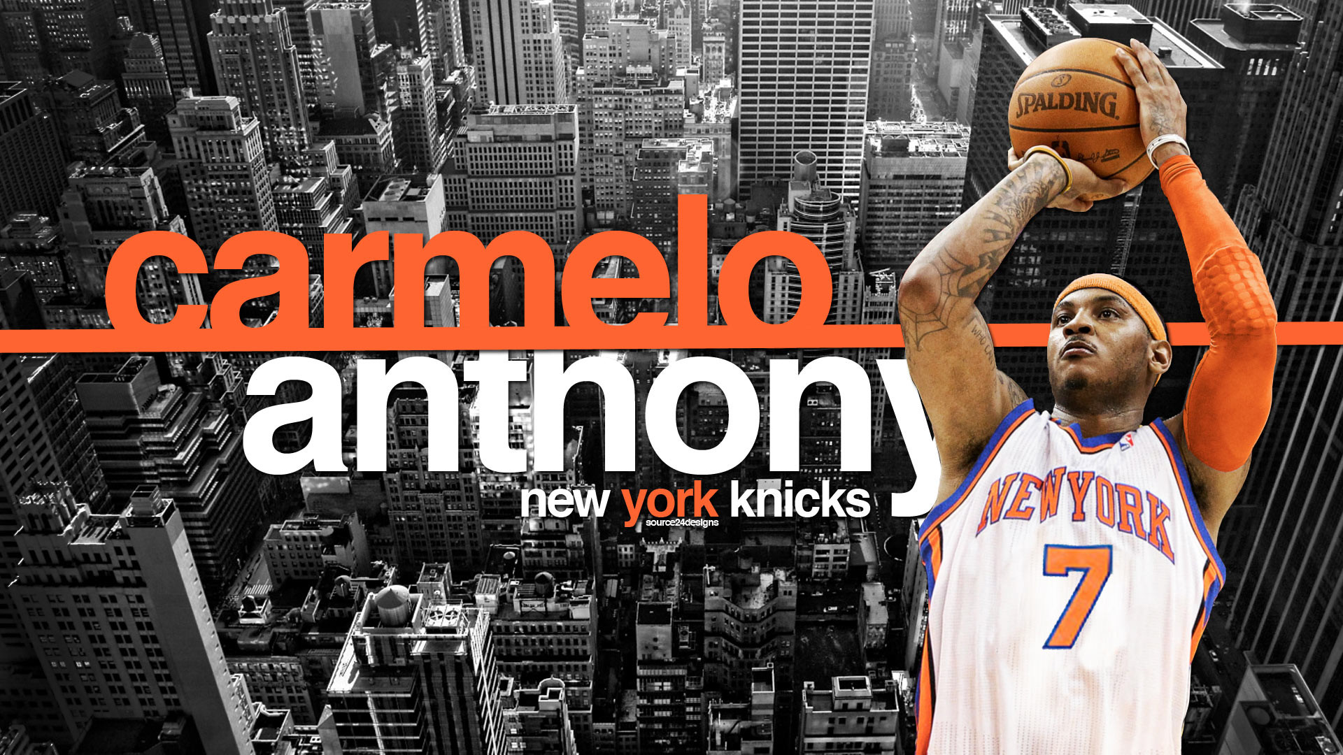 1920x1080 ...  Carmelo Anthony New York Knicks Widescreen Wallpaper  Basketball