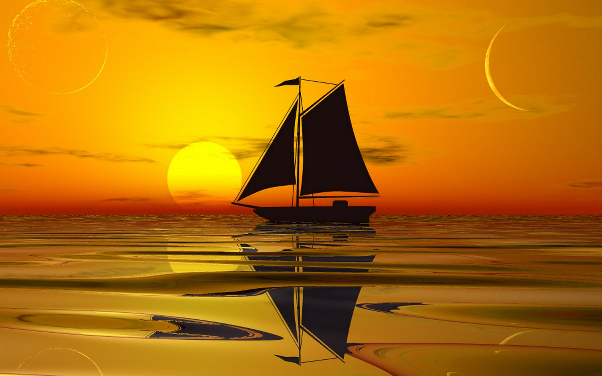 1920x1200 GL Backgrounds Collection; IHZ617: Sailboat Wallpaper  px Download