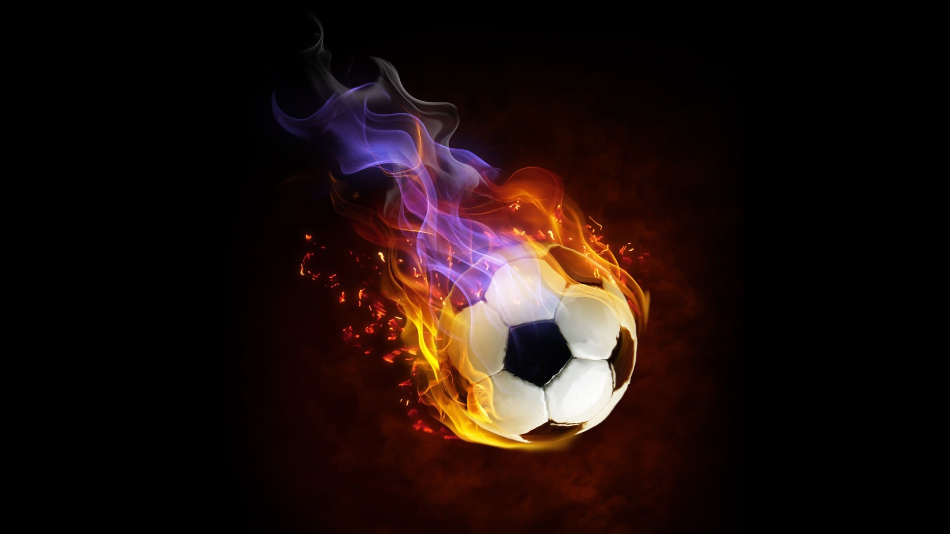 1920x1080 Cool Flaming Soccer Ball Wallpaper Soccer/football