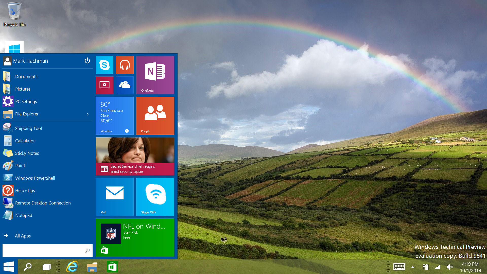 1920x1080 Windows 10 tips: Your first 30 minutes with the Technical Preview