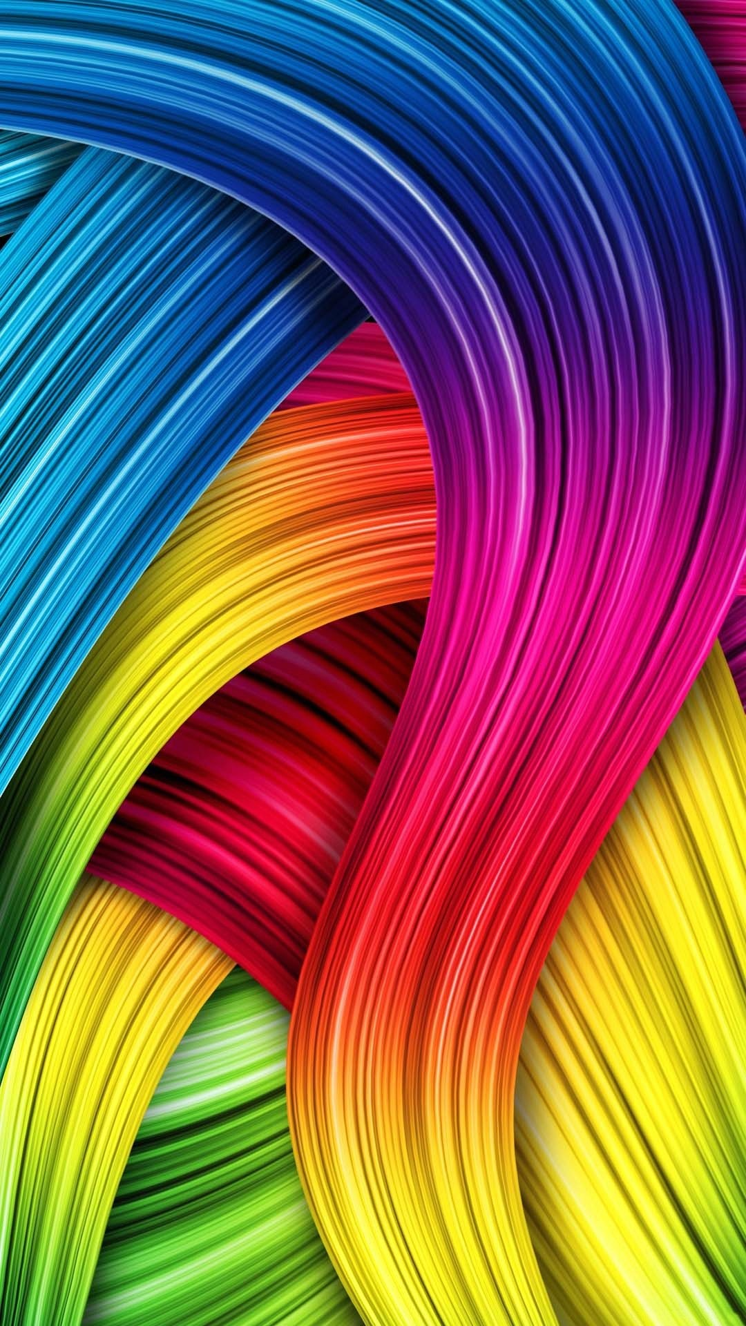 1080x1920 Wallpaper full hd 1080 x 1920 smartphone colorful fiber hairs