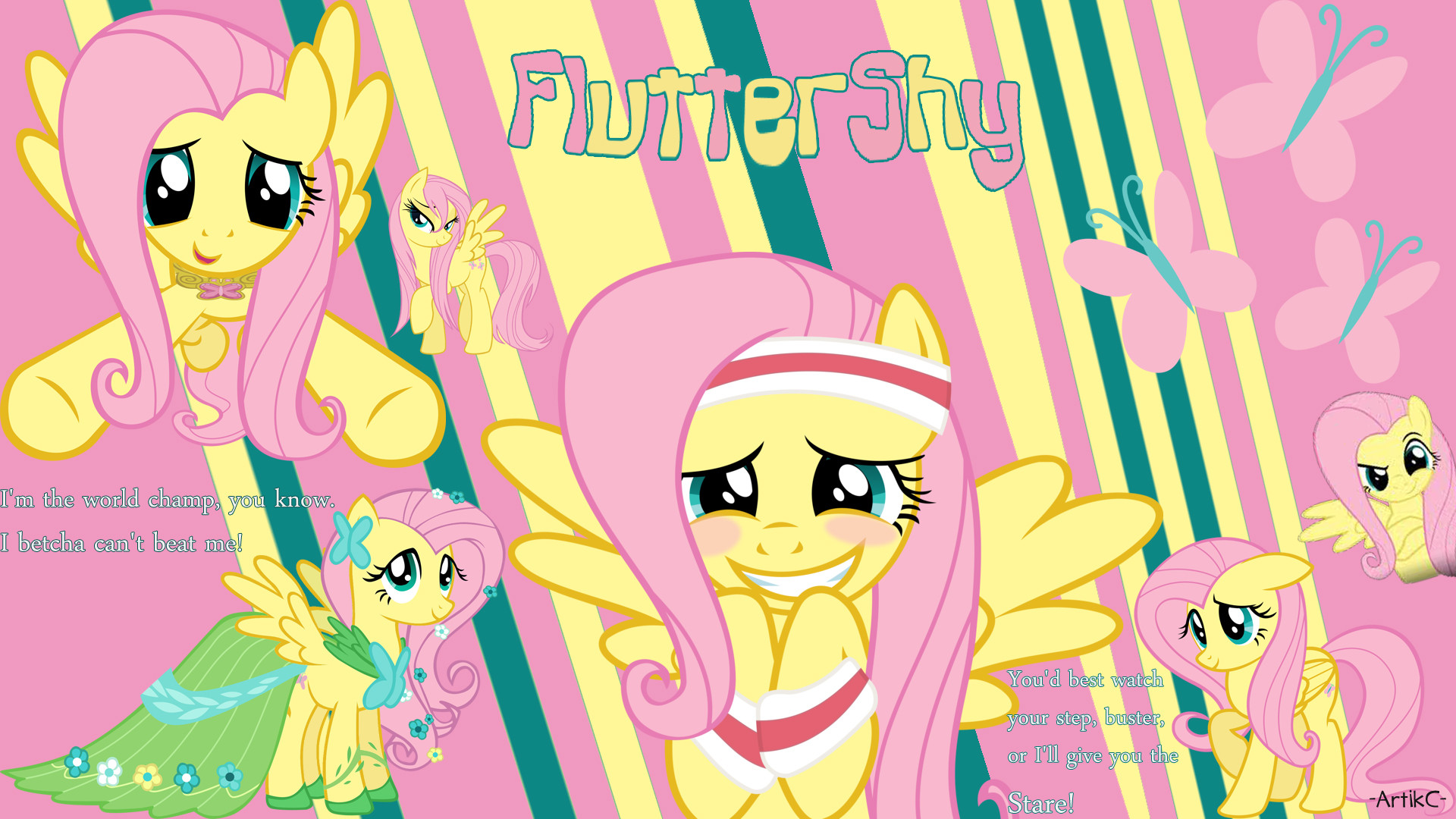 1920x1080 Fluttershy [AC] Wallpaper