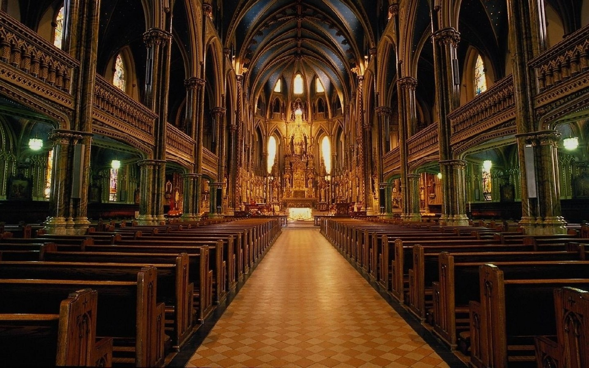1920x1200 Religious - Church Architecture Religious Altar Wallpaper