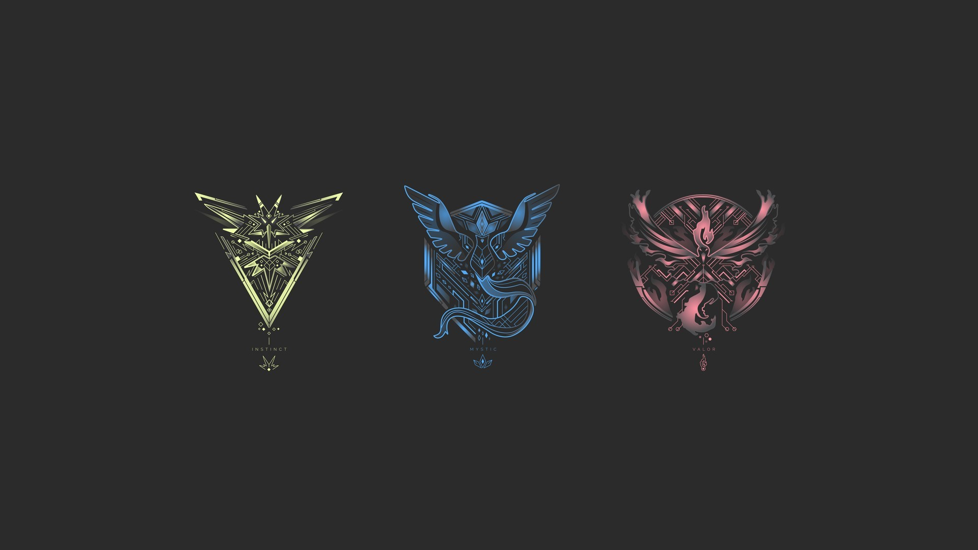 1920x1080 Pokemon Go Teams Minimalism 1440x900 Resolution