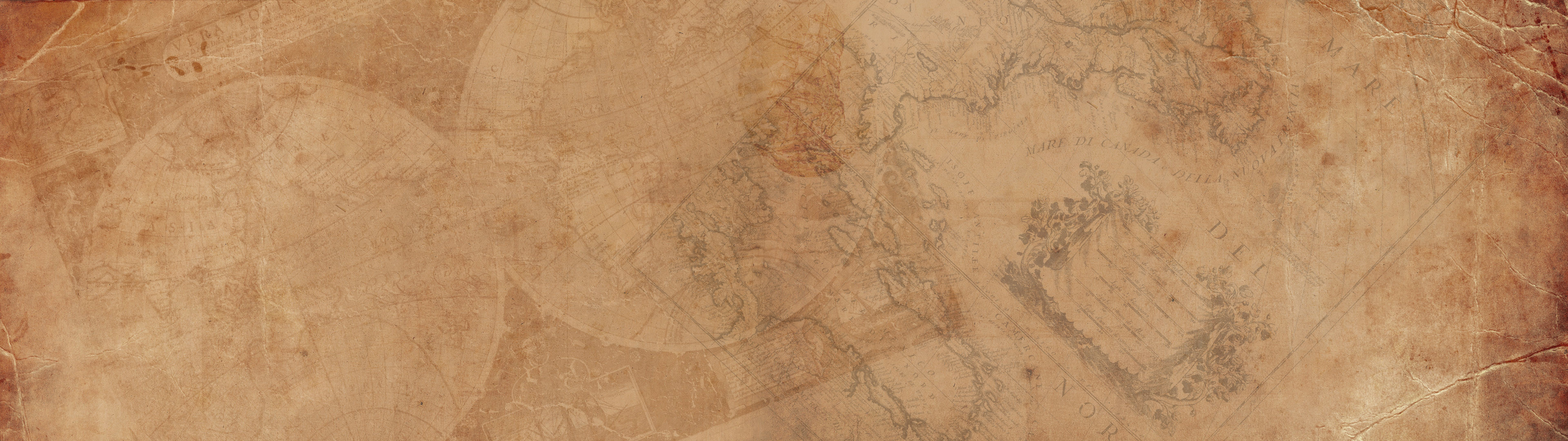 3840x1080 Old map wallpaper from Lifehacker.