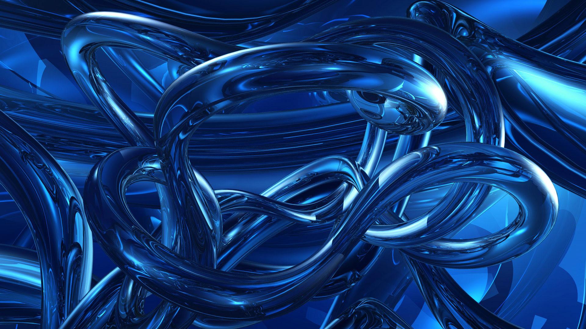 1920x1080 Widescreen Blue Clock Abstract Hd Desktop Wallpaper
