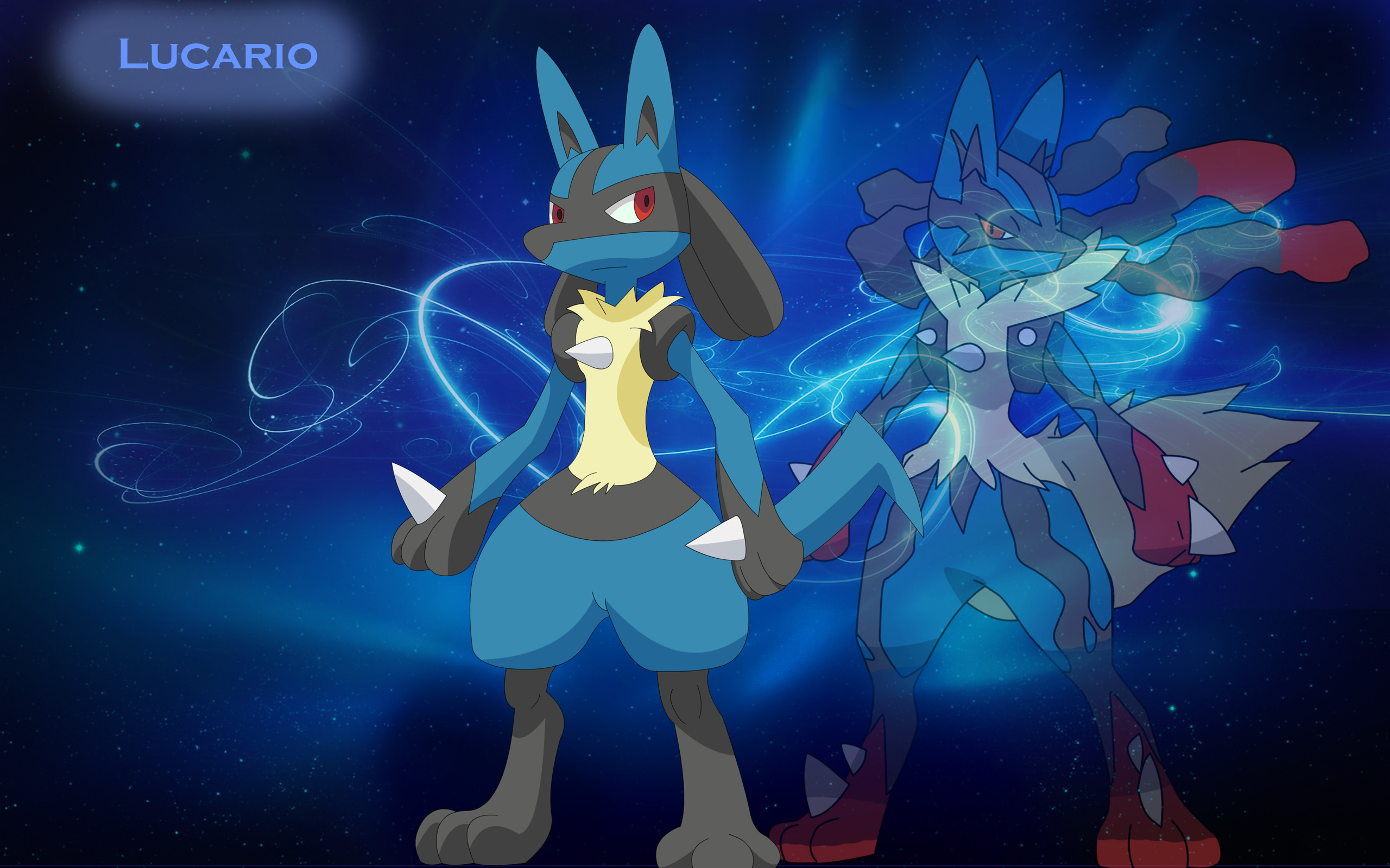 2560x1600 Pokemon Lucario Wallpaper.