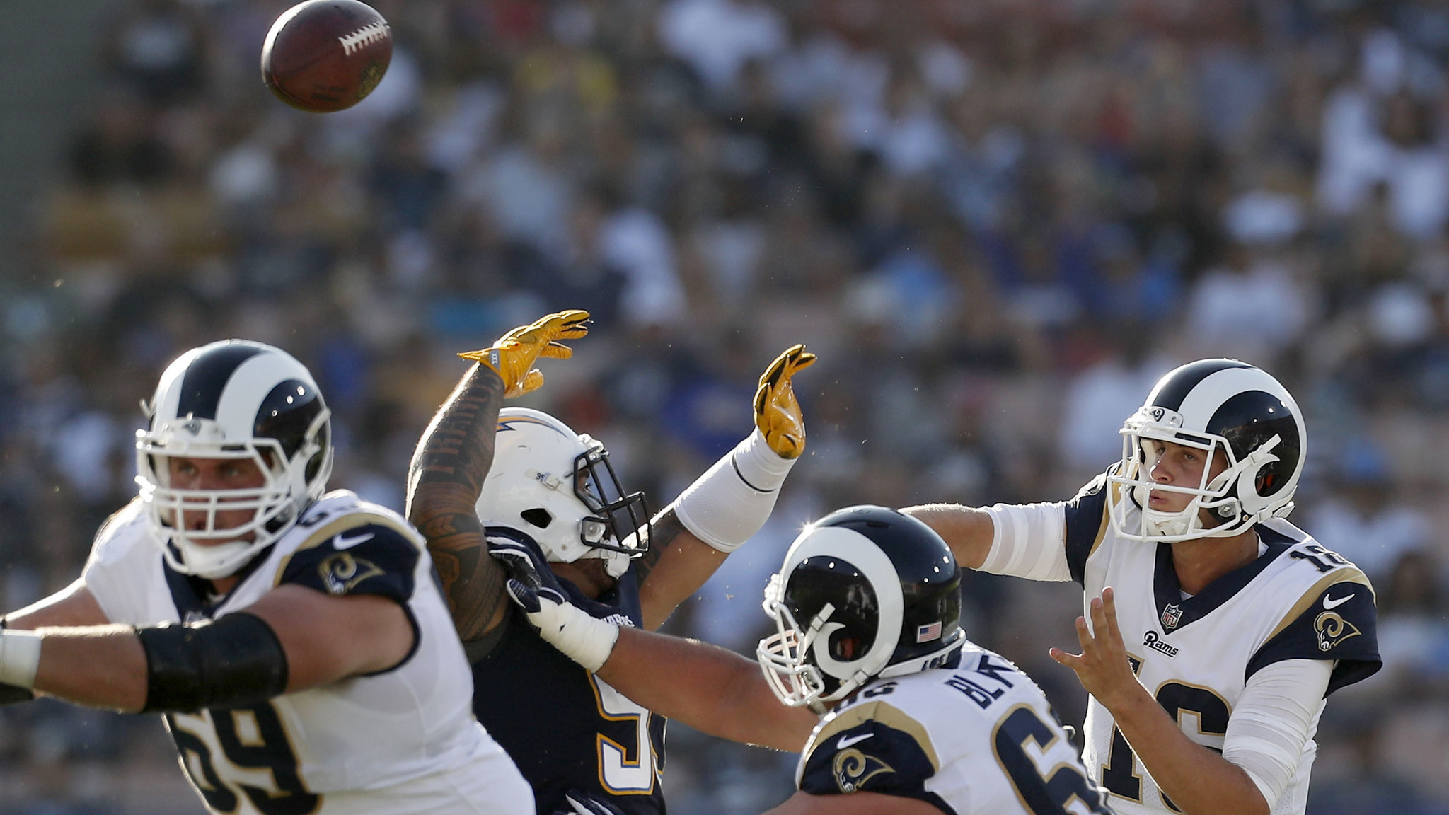2048x1152 Jared Goff has two turnovers in Rams' exhibition loss to the Chargers - LA  Times