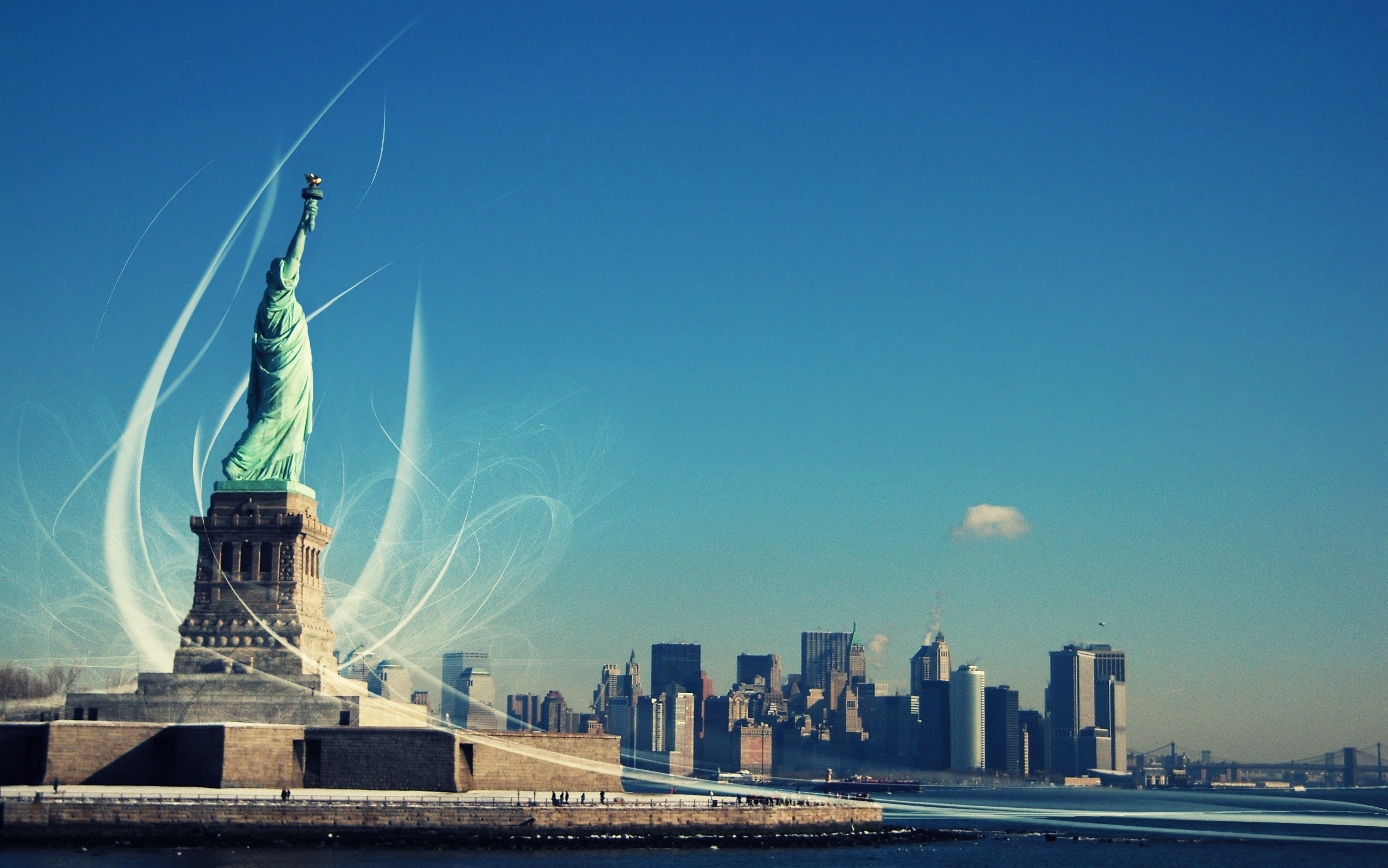 2560x1600 63 Statue of Liberty HD Wallpapers | Backgrounds - Wallpaper Abyss ...