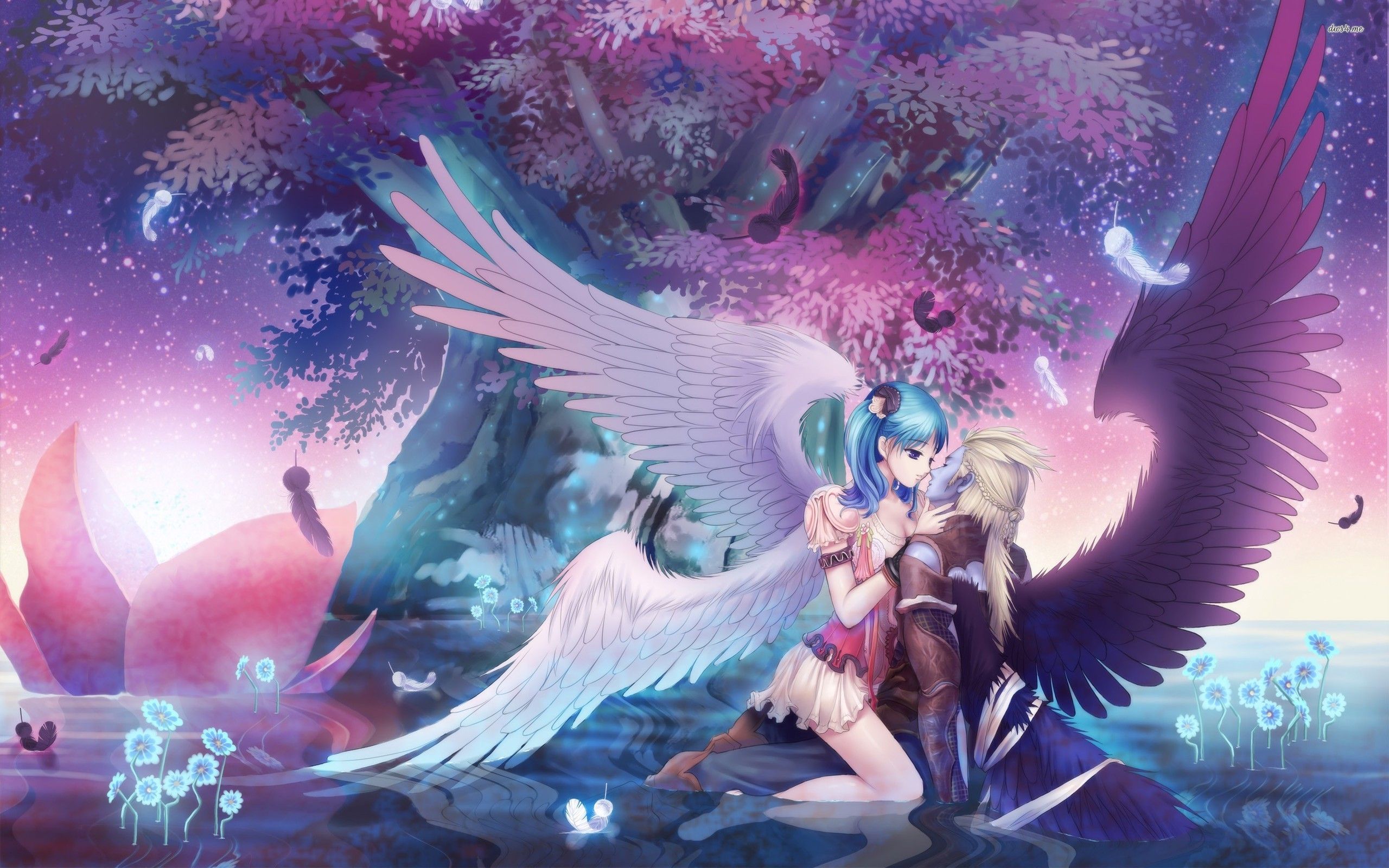 Anime angel and demon   Forbidden Love Chapter 1: The Angel and The