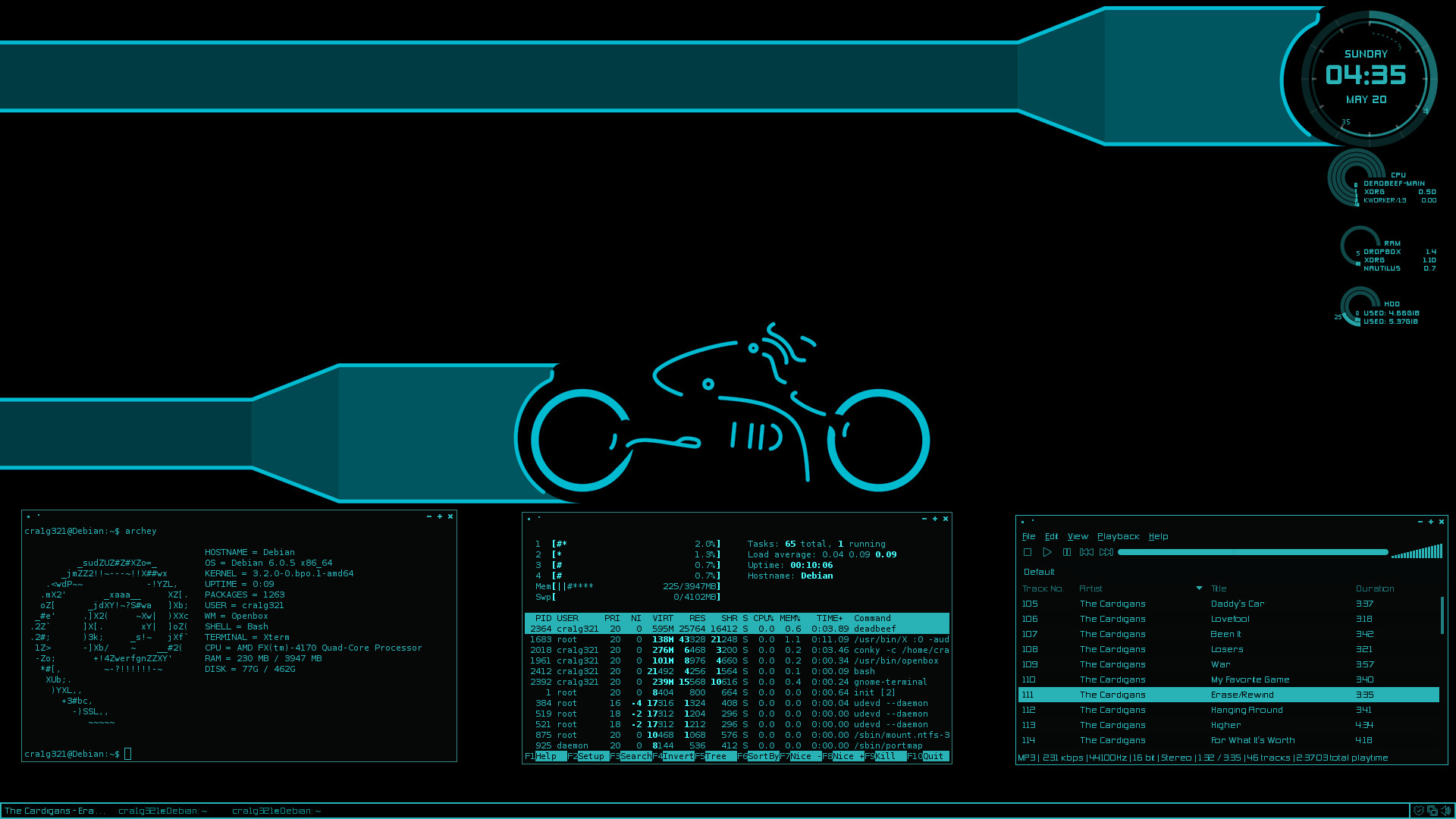 1920x1080 ... Debian TRON Back on the grid by cra1g321
