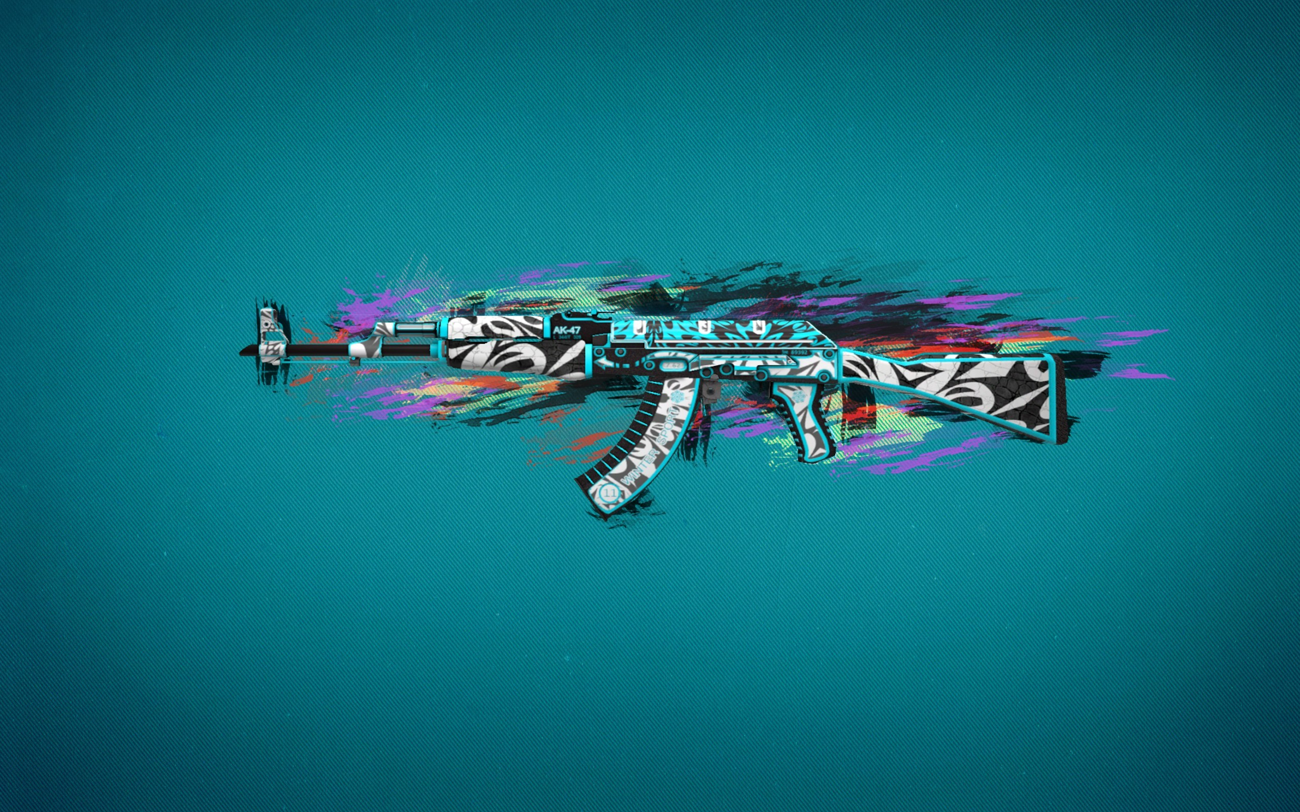 2560x1600 Ak47 Colorful Art