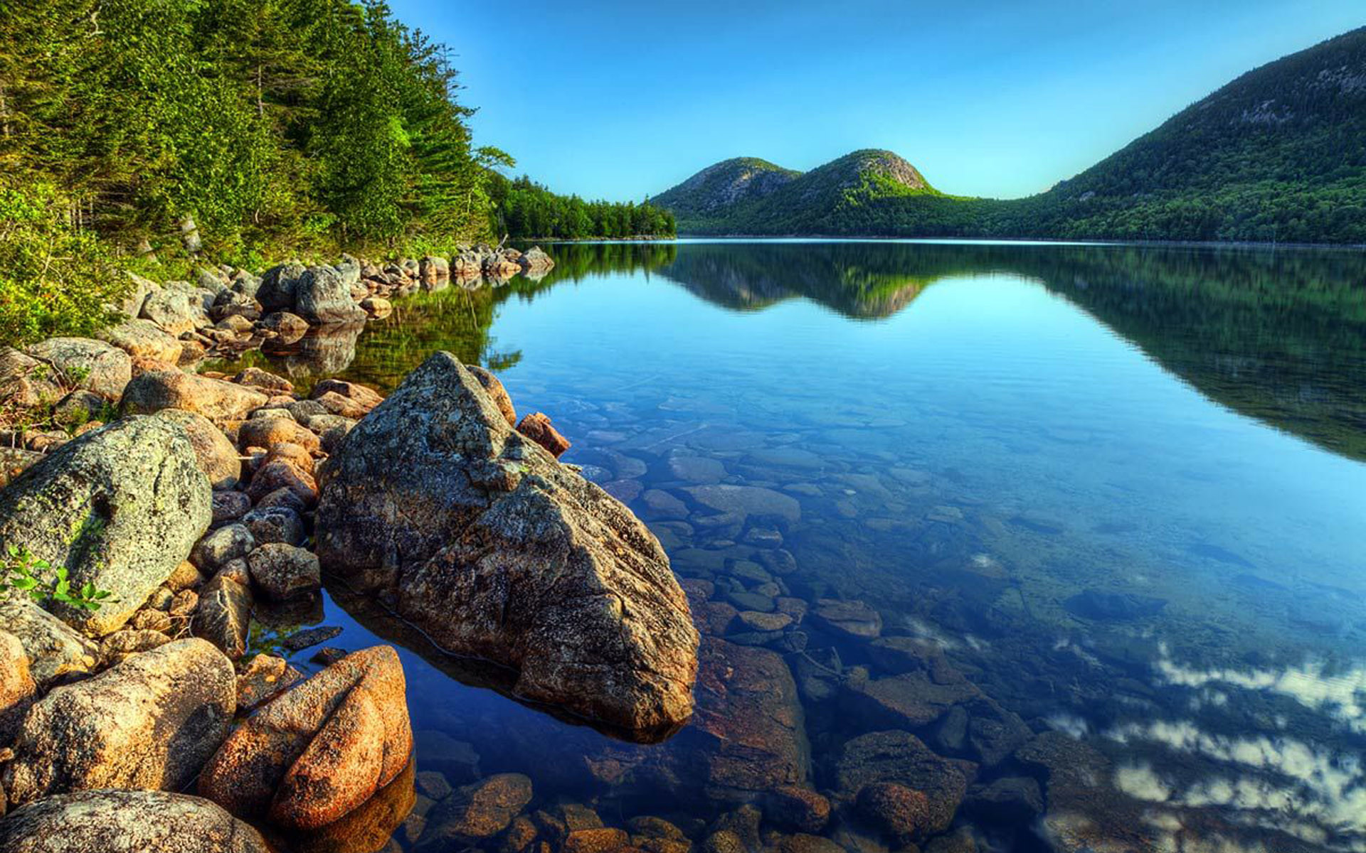 1920x1200 Acadia National Park Maine Jordan Pond Wallpaper Hd 1920×1200
