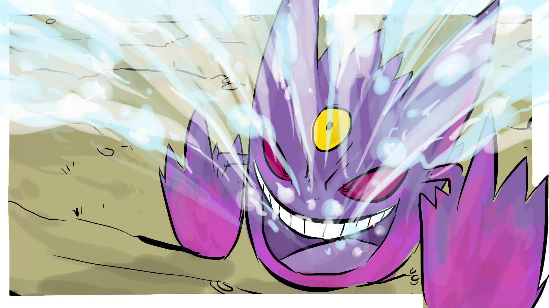 1920x1080 MEGA GENGAR! ICY WIND! My Pokemon Drawing today is Gengar...just so you  know ...
