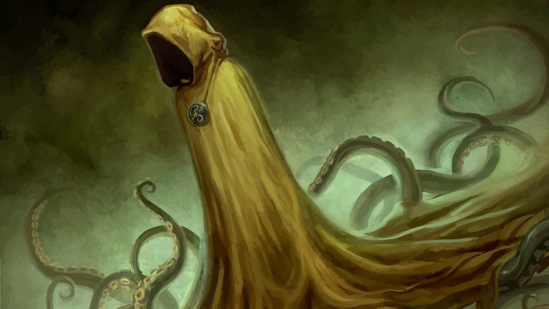 1920x1080 Fantasy - Dark H. P. Lovecraft Hastur Cthulhu Wallpaper