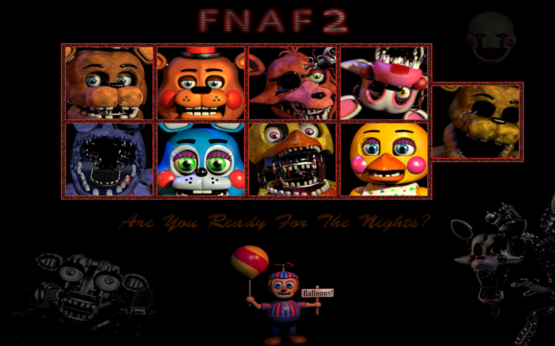 1920x1200 ... Five Nights At Freddy's 2 by saraths07