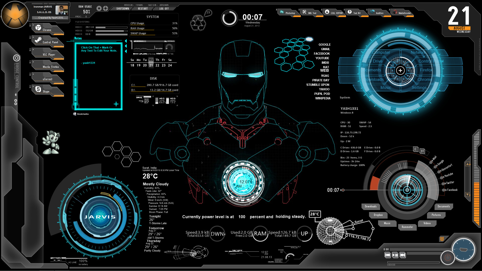 Iron Man Jarvis Animated Wallpaper 79 Images
