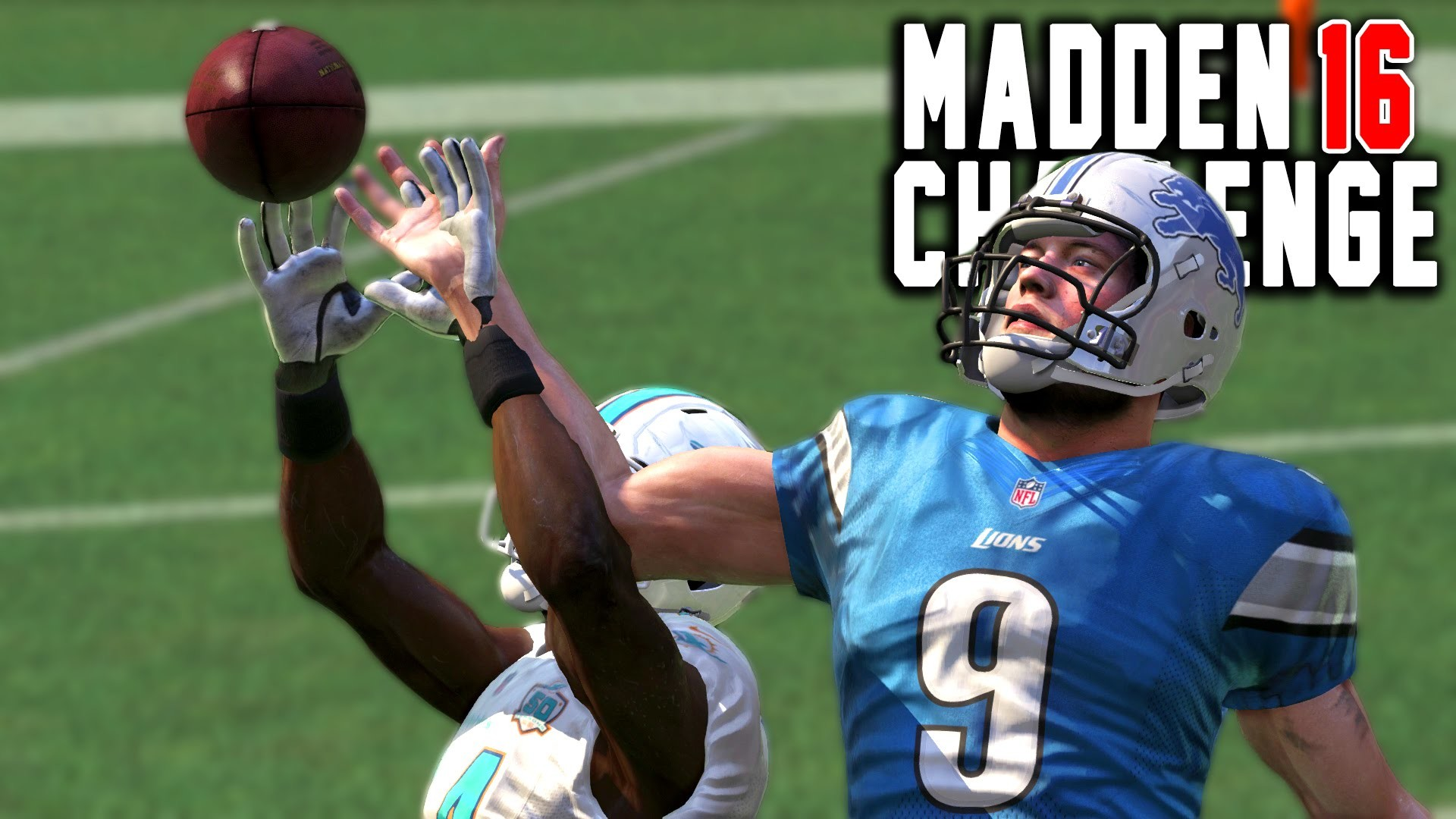 1920x1080 Can Matthew Stafford Catch A One Handed Interception? - Madden 16 NFL  Challenge - YouTube