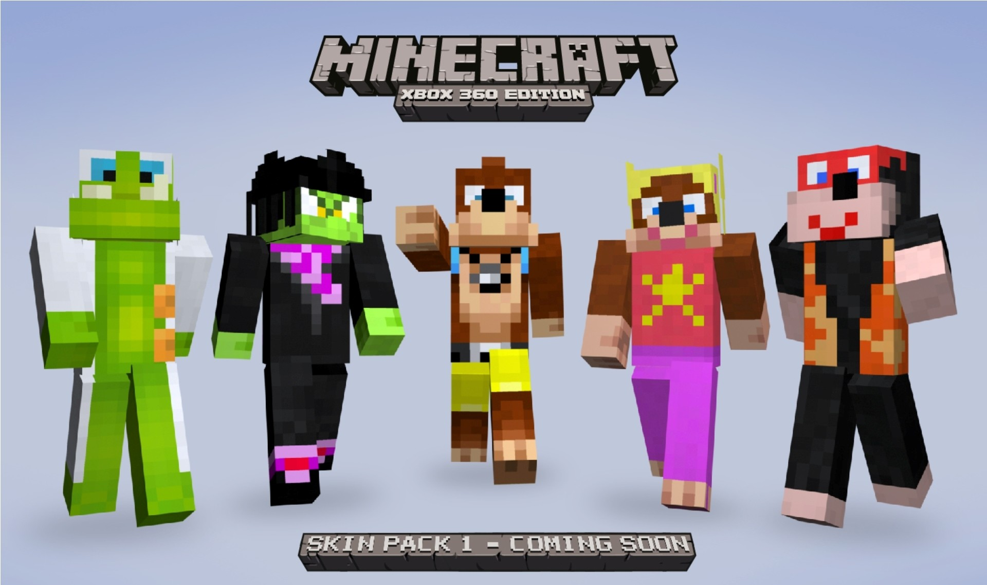 1920x1138 Minecraft Skin Banjo Pack HD Wallpaper of Minecraft