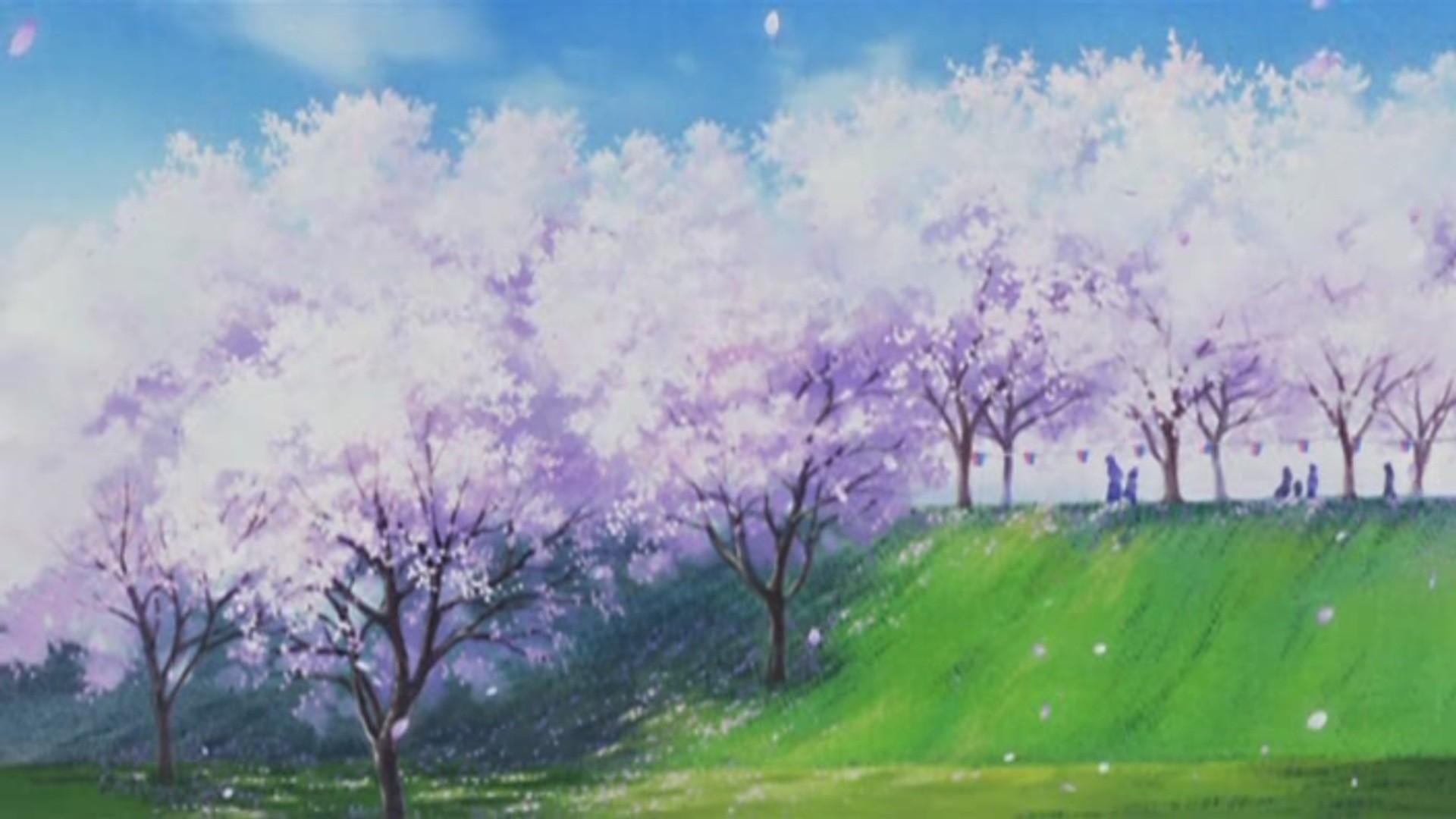 Anime cherry blossom wallpaper 72 images - Anime scenery wallpaper laptop ...